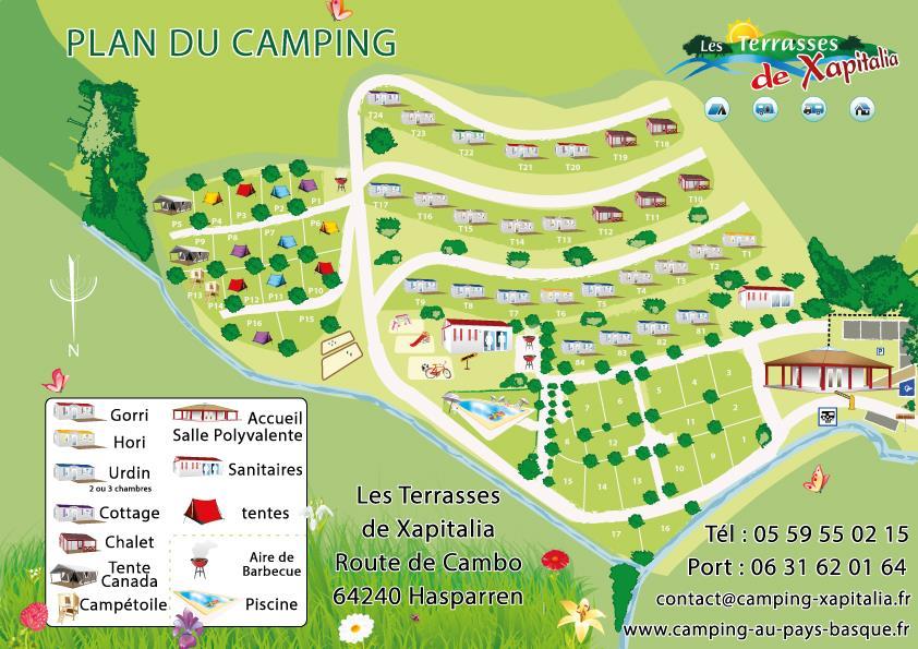 Camping les Terrasses de Xapitalia, Hasparren, Pyrénées-Atlantiques