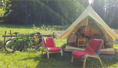 Accommodation - Teepee Mountain Tent - Camping Le Pelly