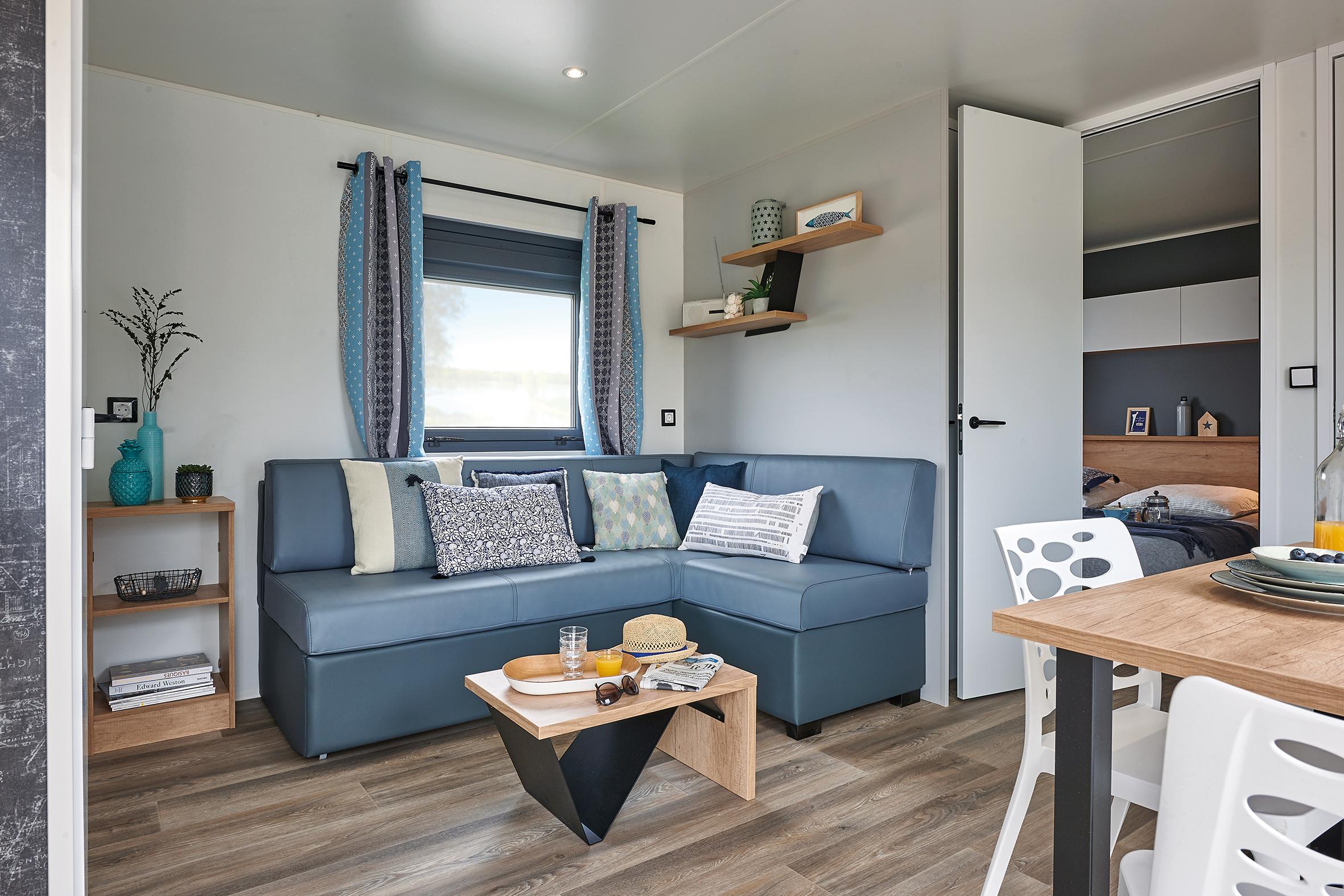 Mobil home Premium Plus 2 chambres 29m² + climatisation & plancha & TV