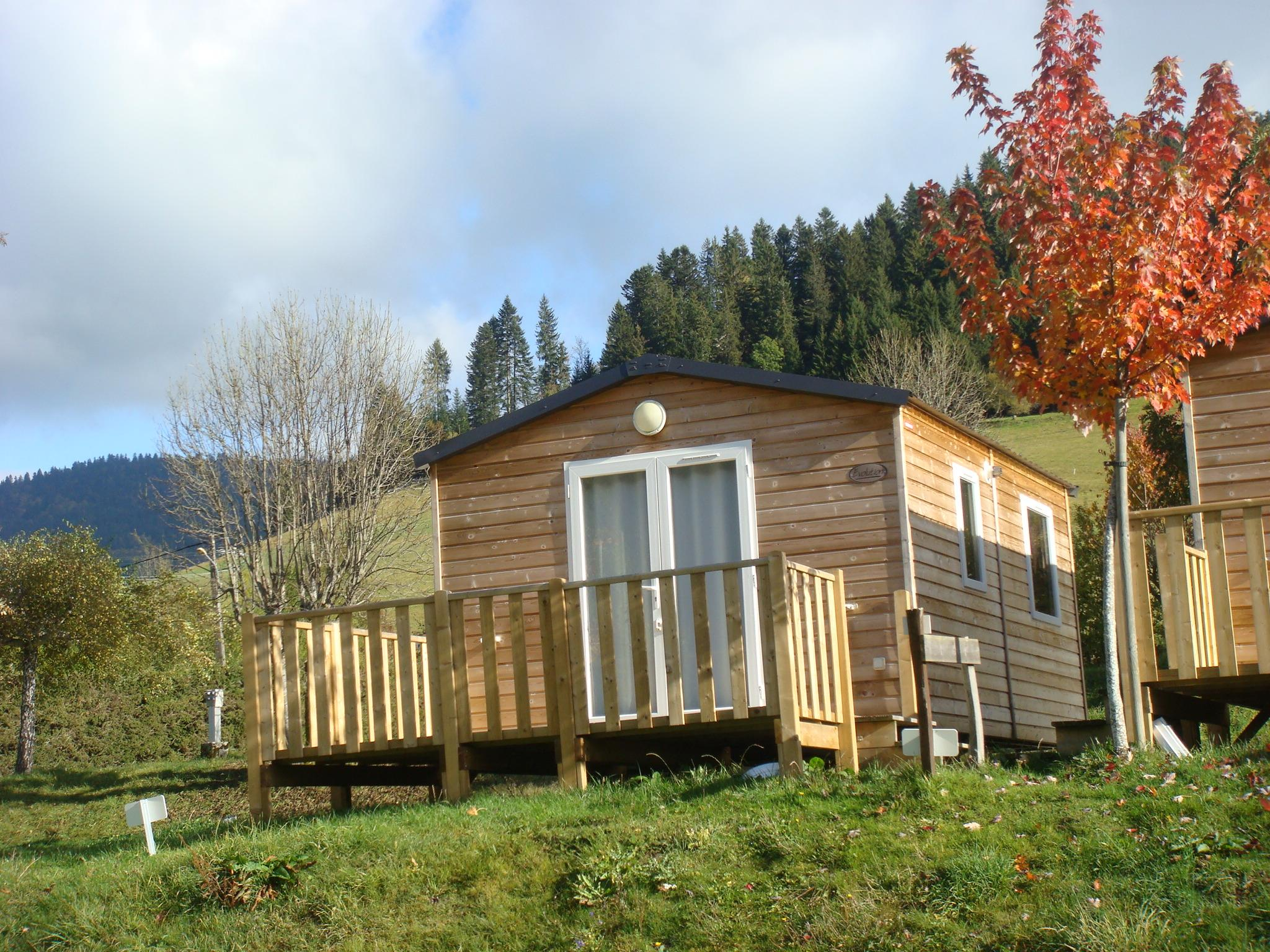Accommodation - Mobile Home Confort+ Crocus - 1 Bedroom - 20M² + Terrace 10,4M² - Camping Le Vercors