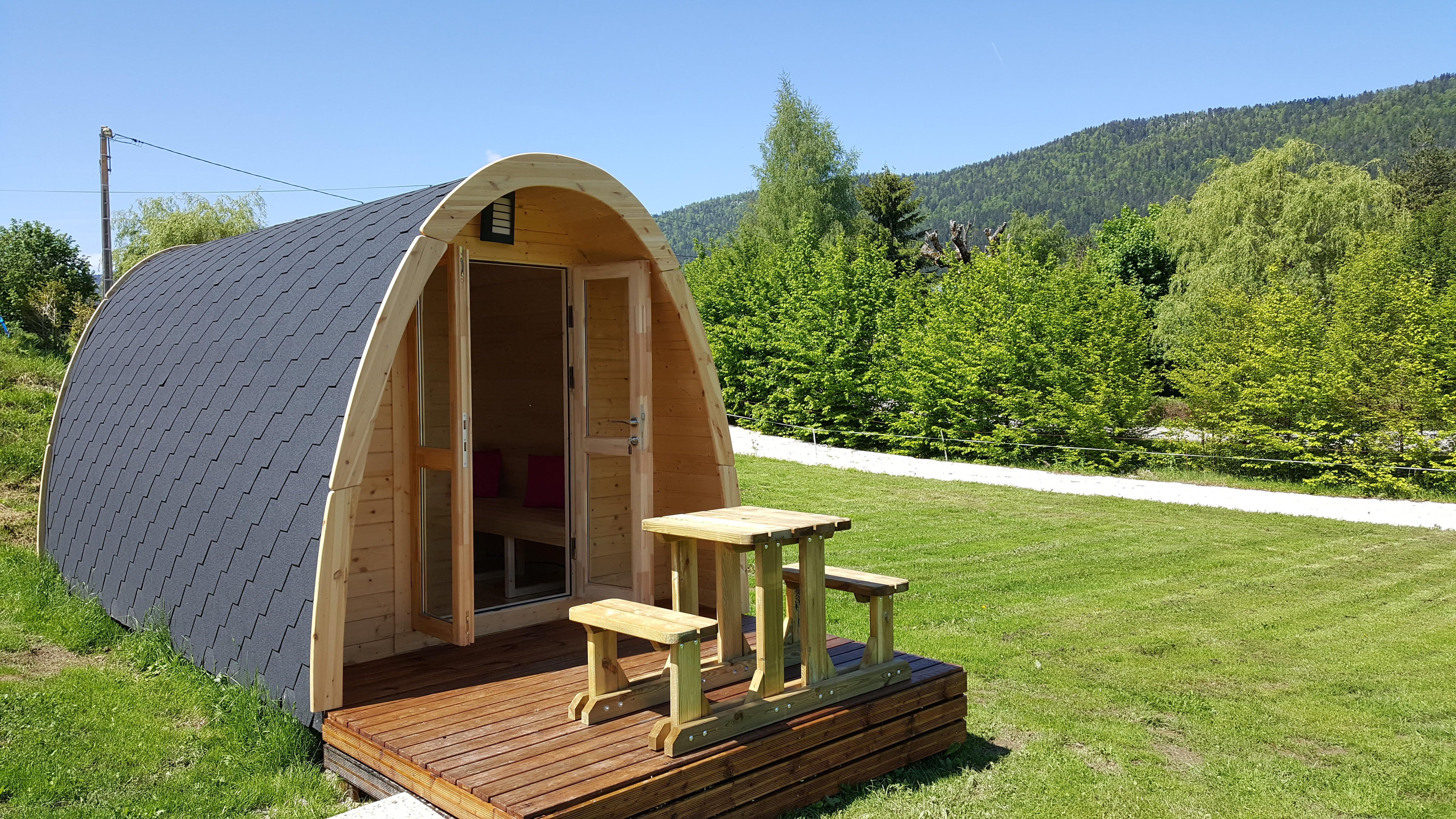 Accommodation - Wooden Cabin 100 % Nature Terrace - Camping Le Vercors