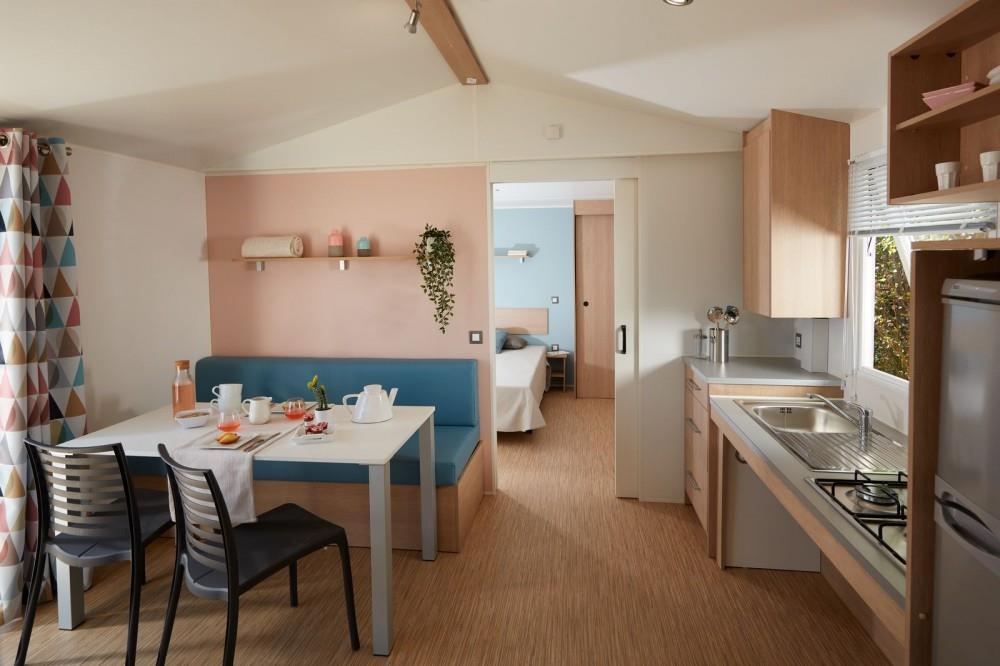 Location - Mobil-Home Bois Premium 32M² 2 Chambres Pmr - Wellness Sport Camping UCPA VVF Pène Blanche