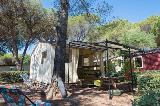Location - Cottage Toilé Kabana * - 2 Chambres - Yelloh! Village la Bastiane