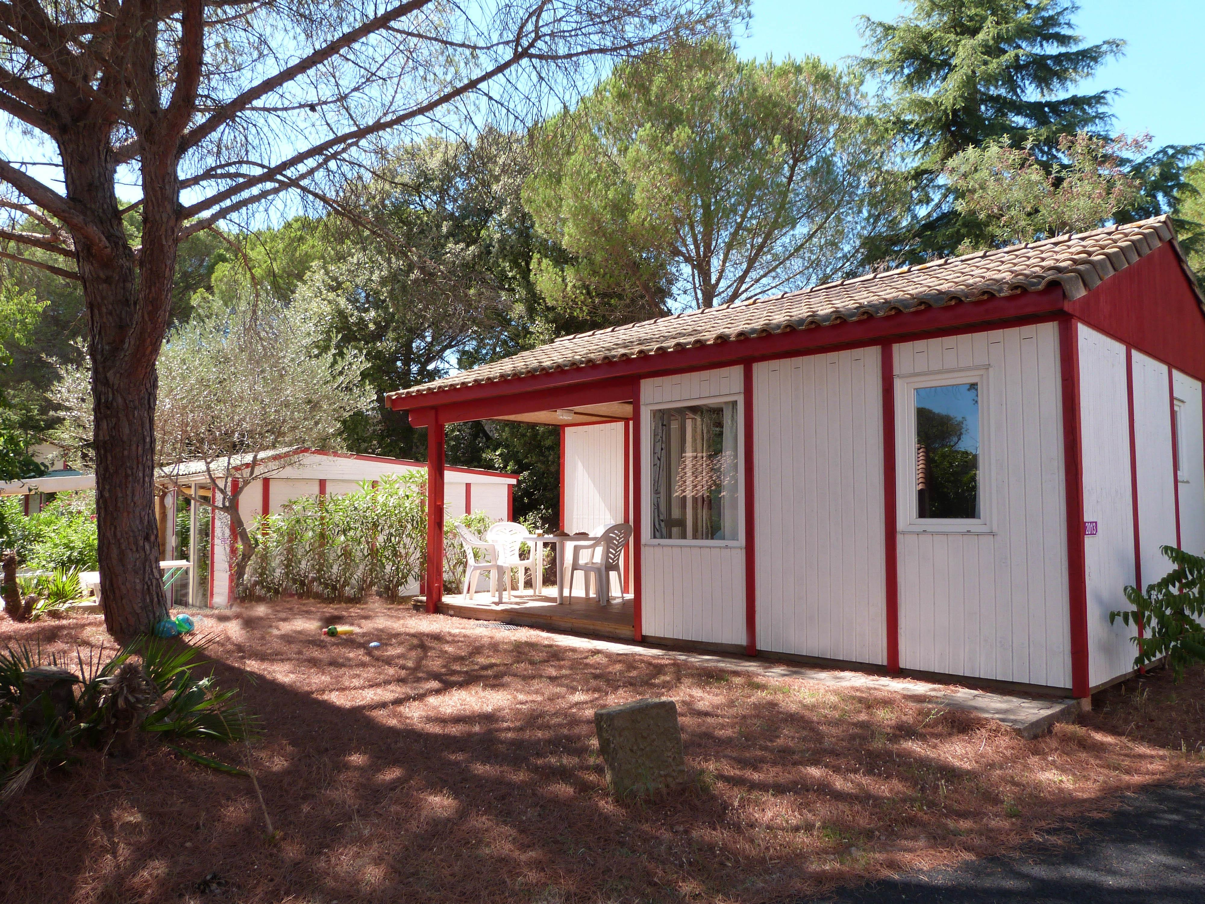 Location - Chalet Kinal 6 Pers. + 1 Place Véhicule. Eco - Camping Les Cigales