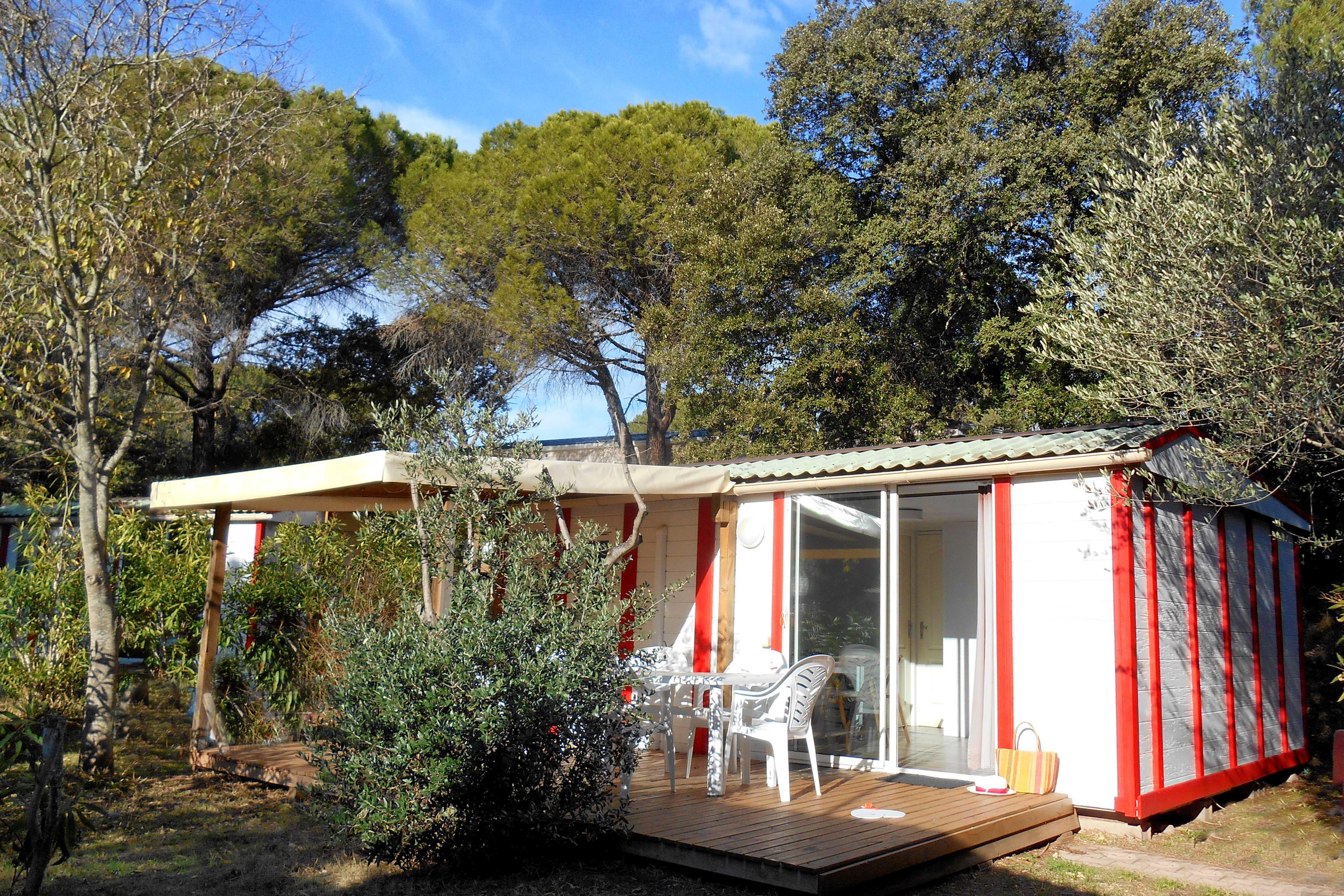 Location - Chalet Uman 6 Pers. + 1 Place Véhicule. Confort - Camping Les Cigales
