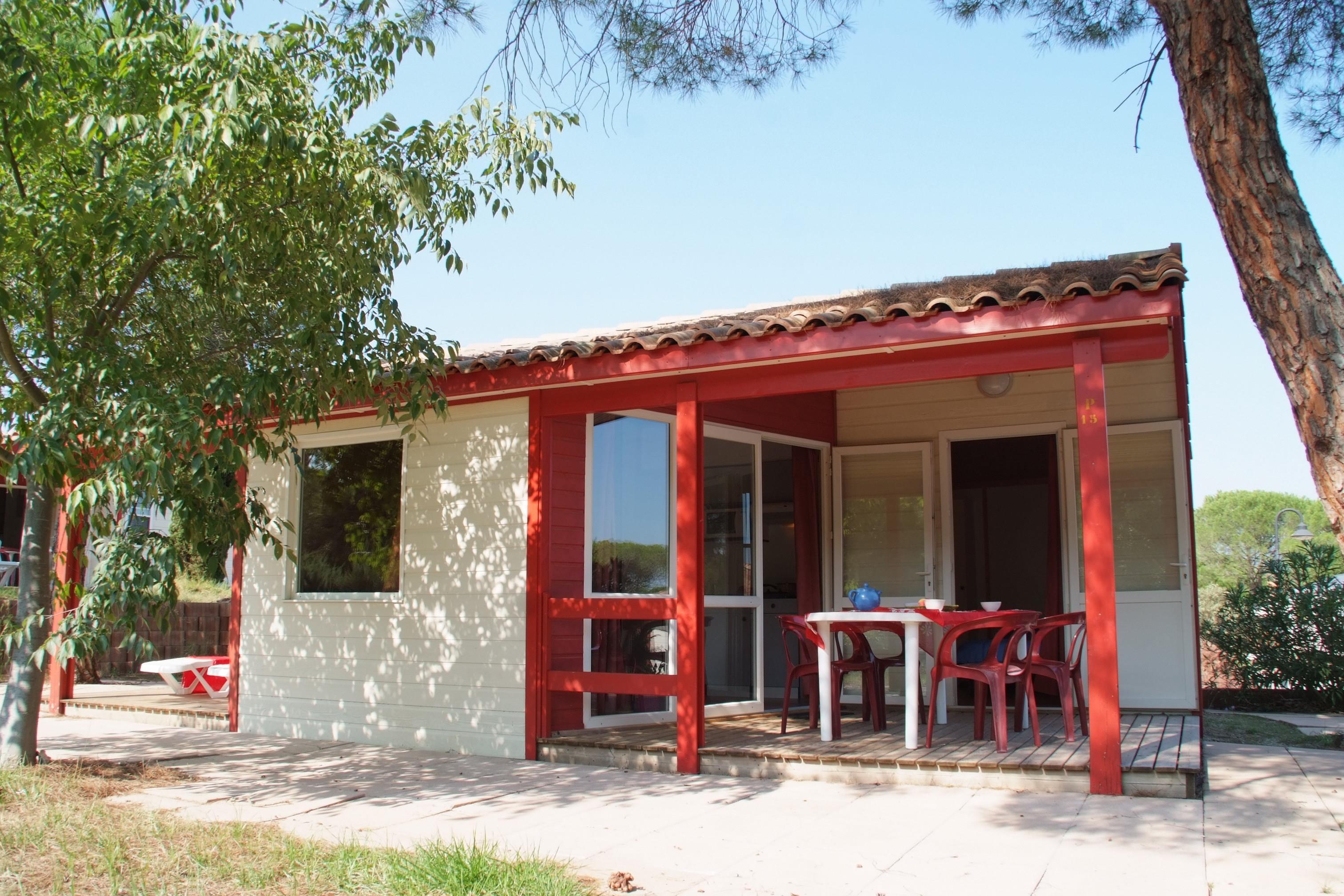 Location - Chalet Tikal 4 Pers. Premium + 1 Place Véhicule. Premium - Camping Les Cigales