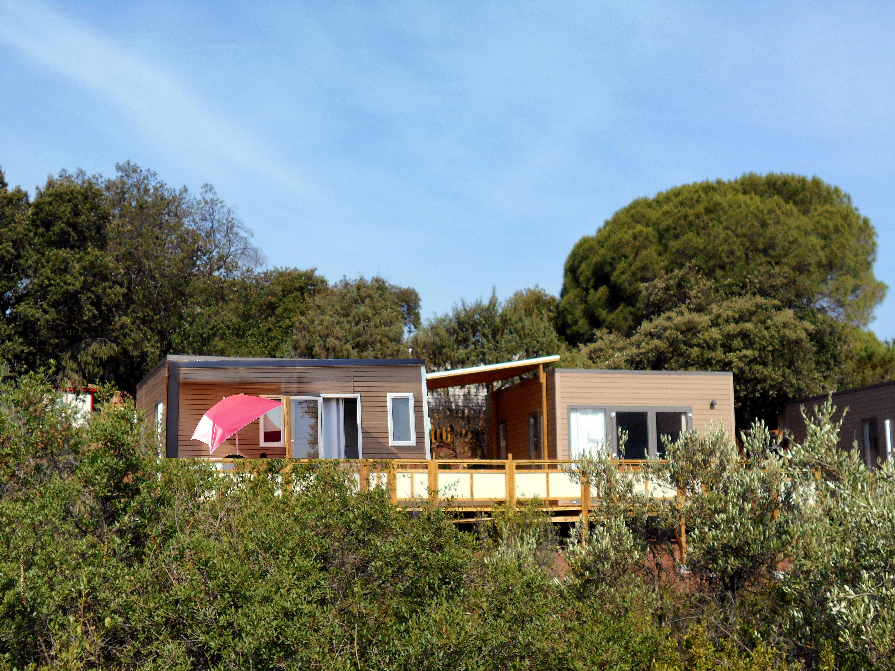 Location - Mobil Homes Duo Amerique 6 Pers : 1 Utah + 1 Tennessy Indépendants Avec Terrasse Commune + 1 Place Véhicule - Camping Les Cigales