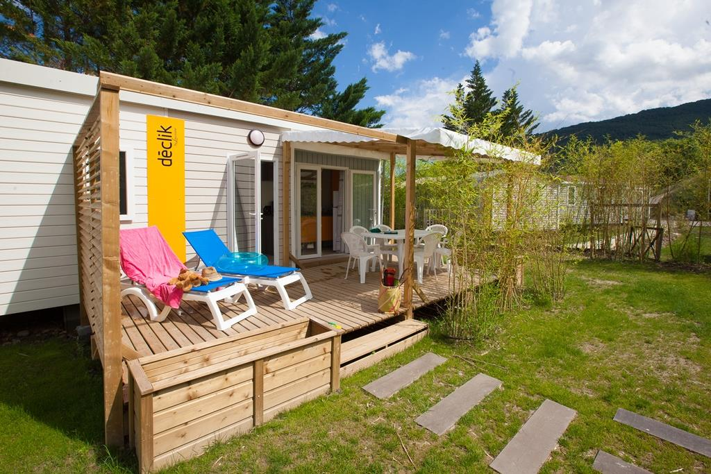 Location - Mobil-Home Privilège Argent 35M² 3Ch. - 6Pers. - Clim – Lv - Ardèche Camping
