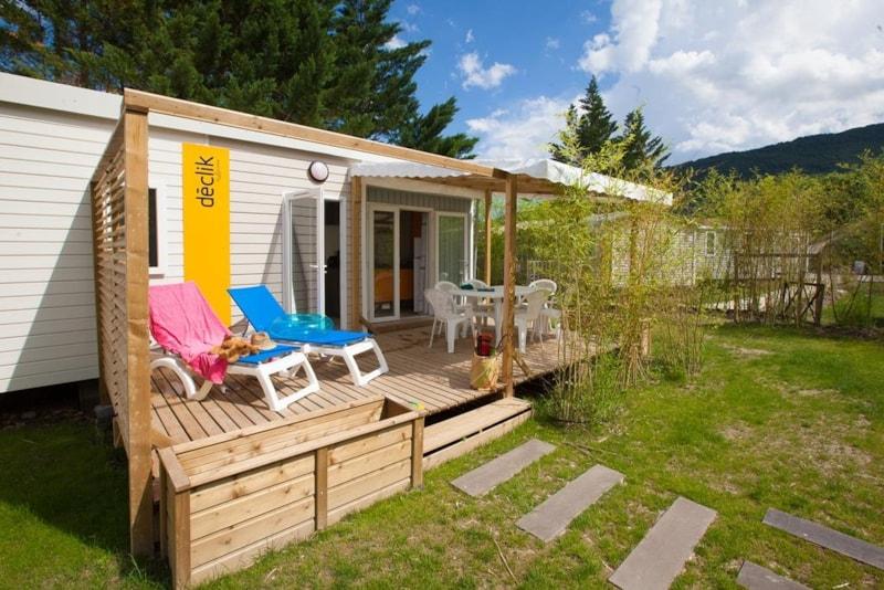 Mobil-Home Privilège ARGENT 35m² 3ch. - 6pers. - CLIM – LV - Ardèche Camping