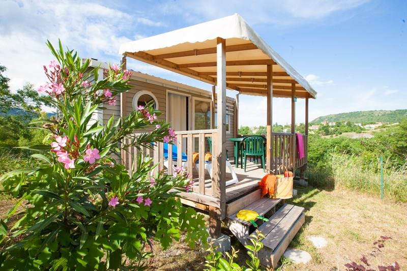 Location - Mobil-Home Grand Confort Violet 20M² 1Ch. – 2/3Pers. - Ardèche Camping