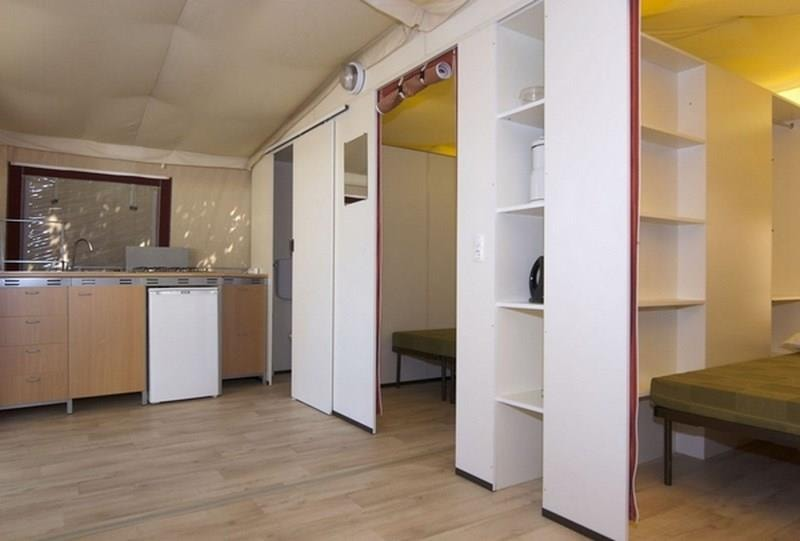 Tente Lodge 27m² 2ch. – 5pers. (4/9)