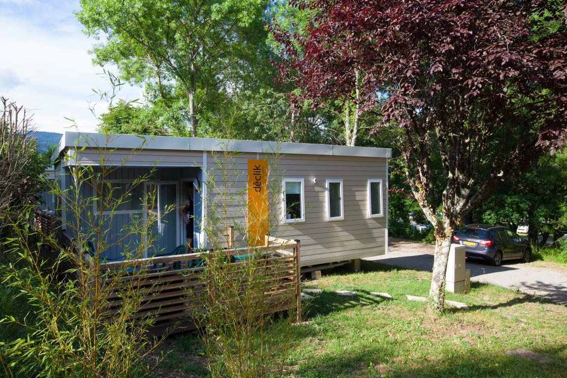 Location - Mobil-Home Grand Confort Gris 23M² 2Ch. - 5Pers. - Ardèche Camping