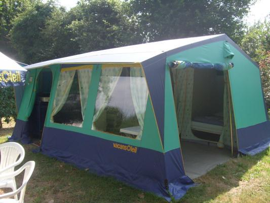 Location - Tente Meublée 19M² 3Ch. – 6Pers. - Ardèche Camping