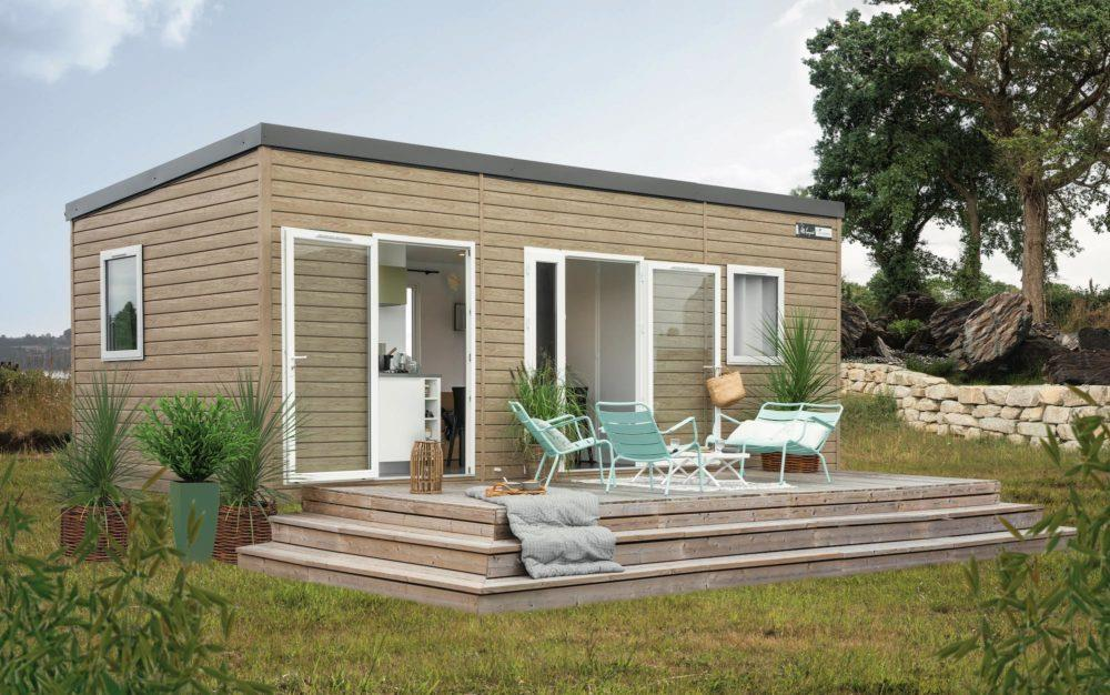Accommodation - Mobil-Home Privilège Beige 27M² 2Ch. - 5Pers. - Clim - Ardèche Camping