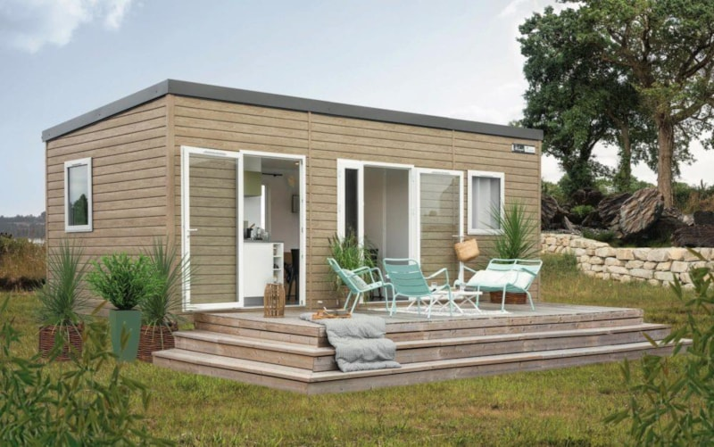 Mobil-Home Privilège BEIGE 27m² 2ch. -5pers. - CLIM - LV - Ardèche Camping