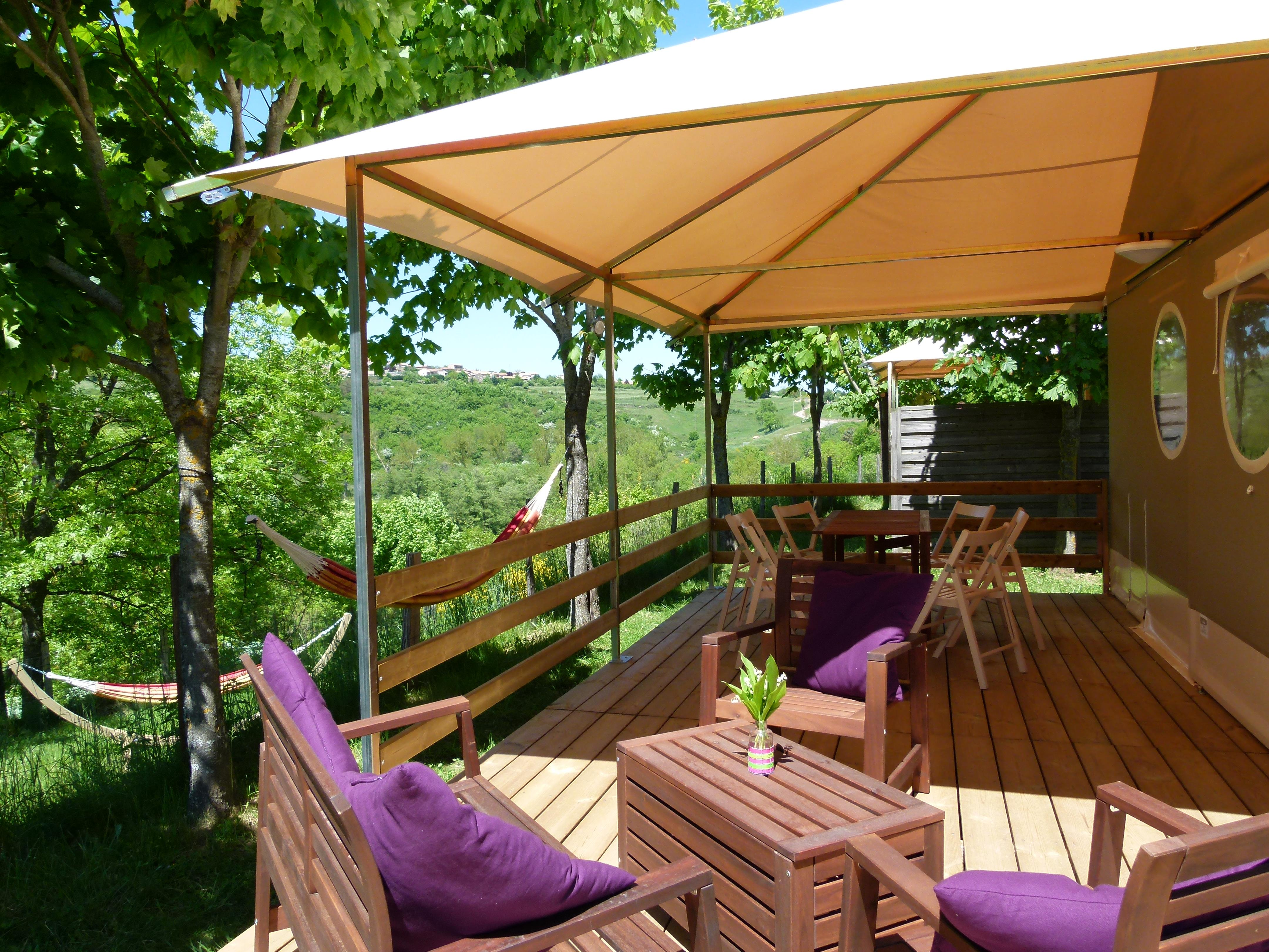 Accommodation - Tente Lodge Pagan With Private Facilities - Sites et Paysages L'Oasis