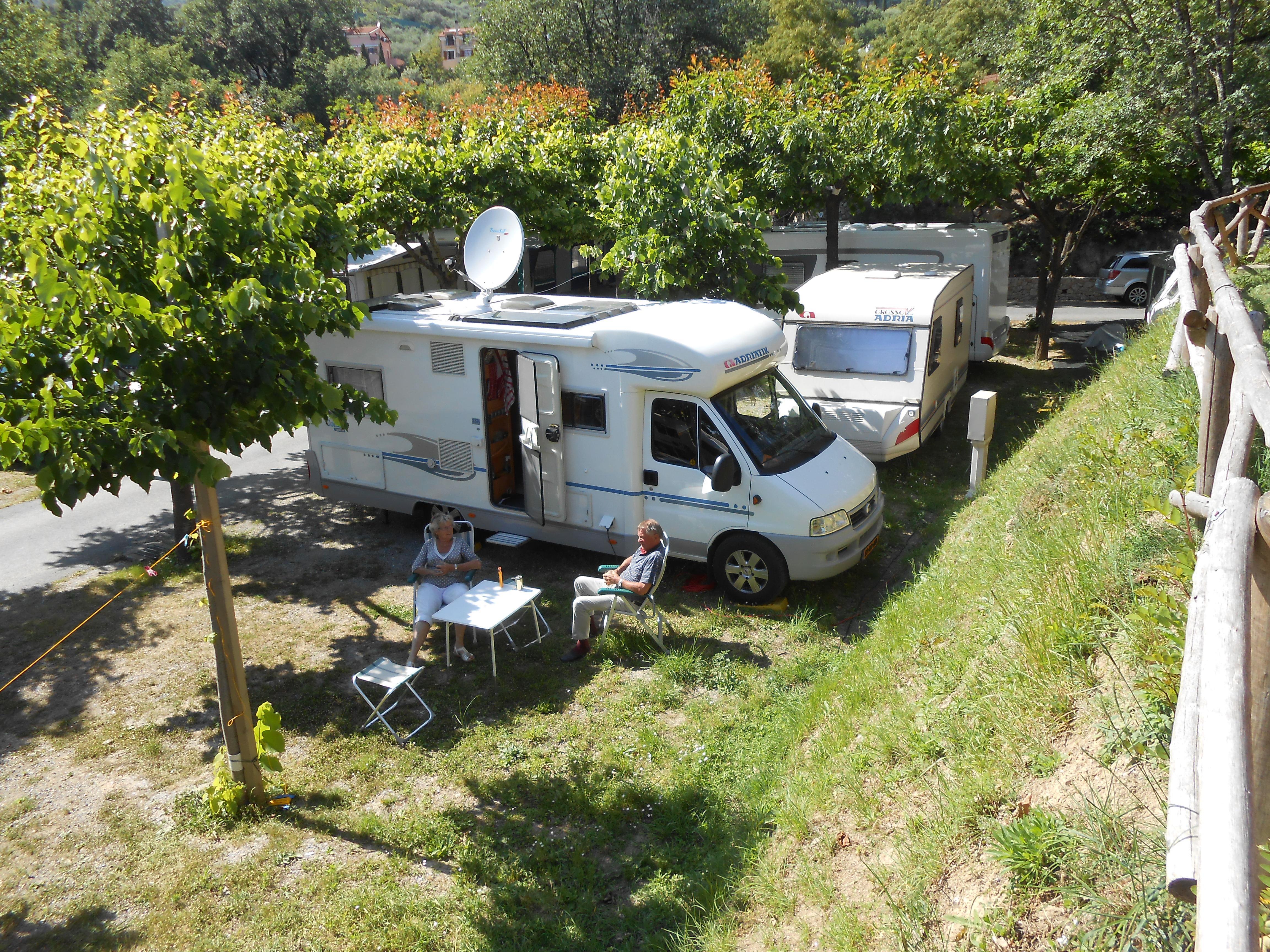 Emplacement - Emplacement : Caravane Max M. 7,30   Ou Camping-Car - Camping Pian dei Boschi