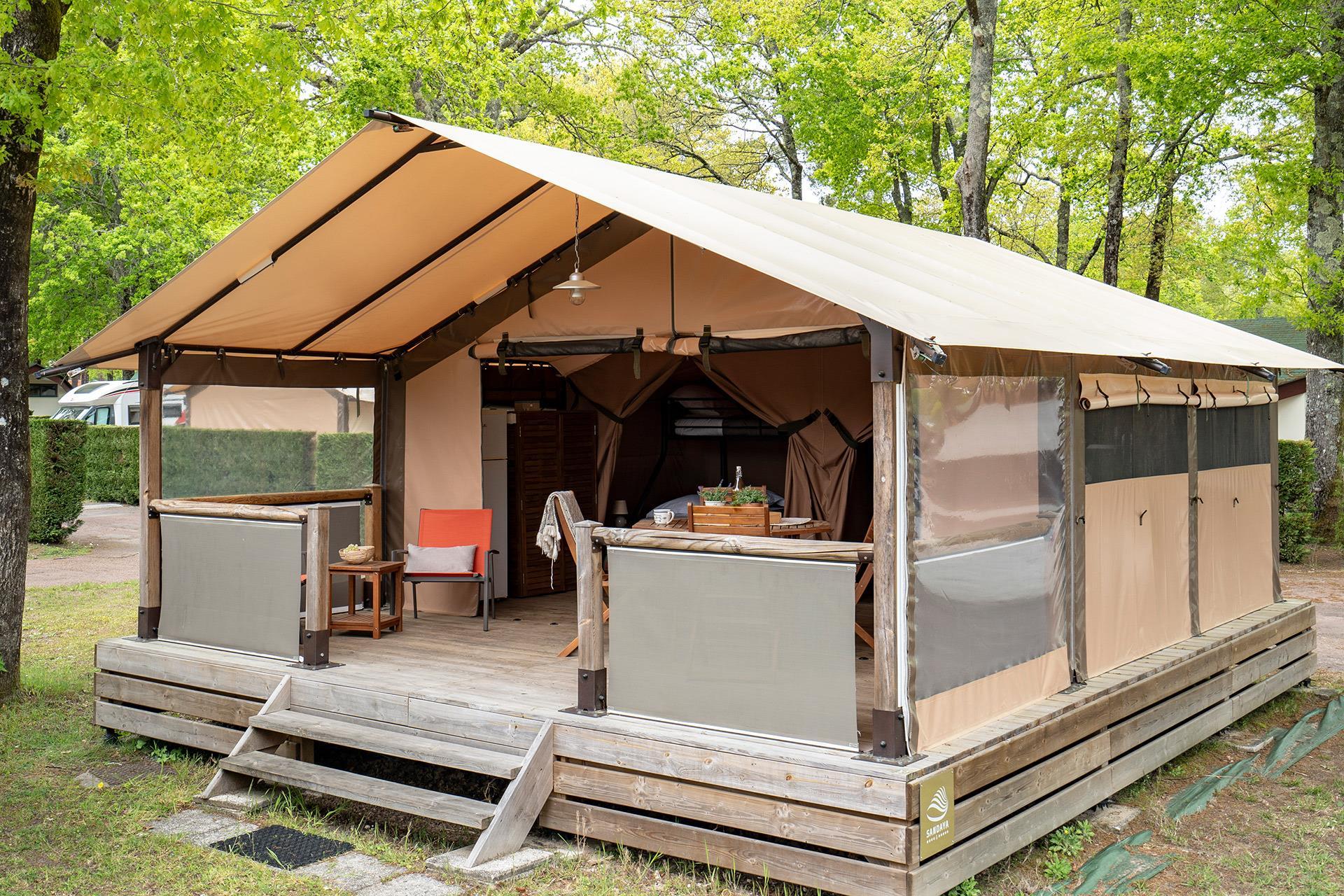 Location - Tente 2 Chambres ** - Camping Sandaya L'Orée du Bois
