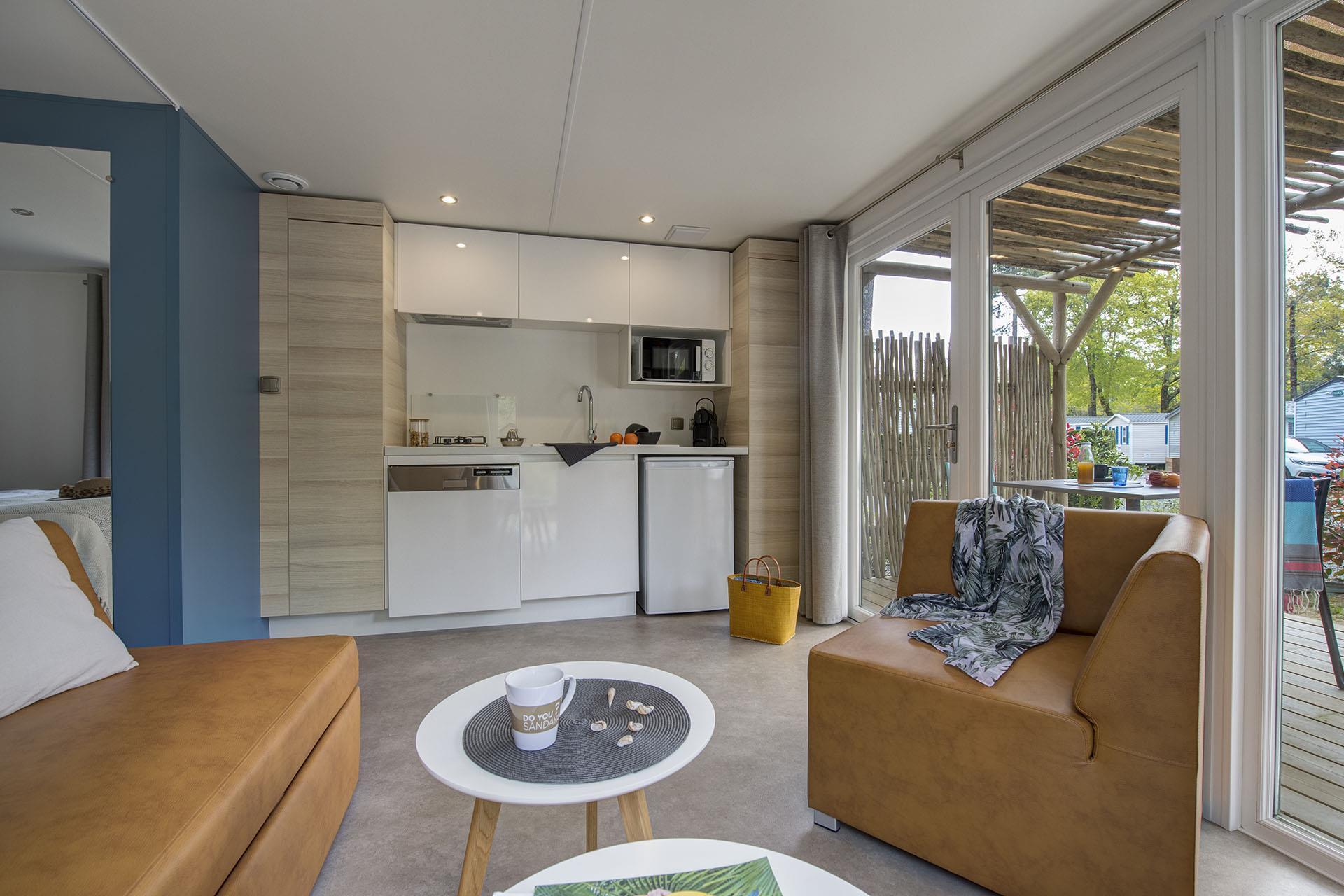 Location - Cottage Key West 1 Chambre Premium - Camping Sandaya L'Orée du Bois