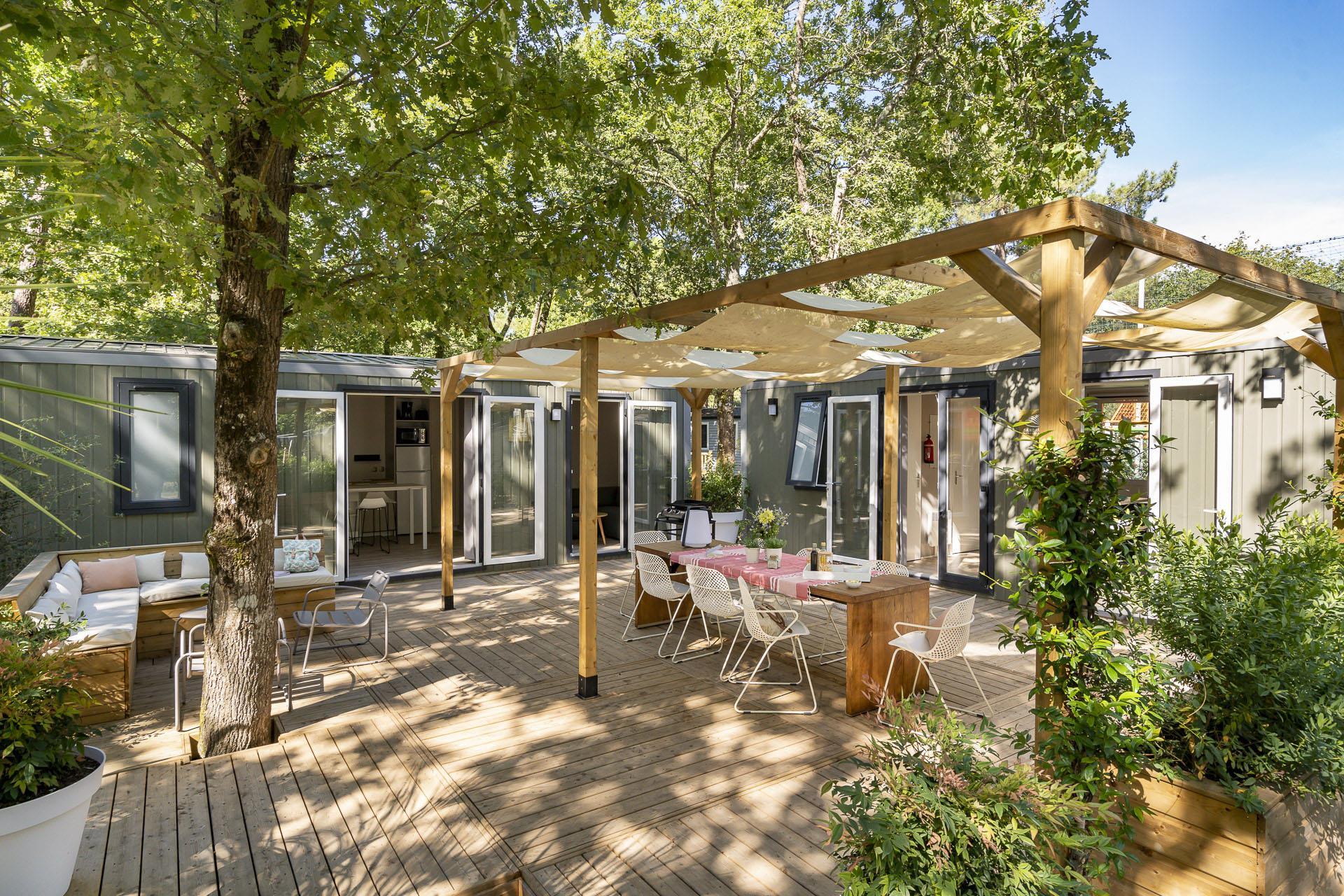 Location - Cottage Friends 5 Chambres **** - Camping Sandaya L'Orée du Bois