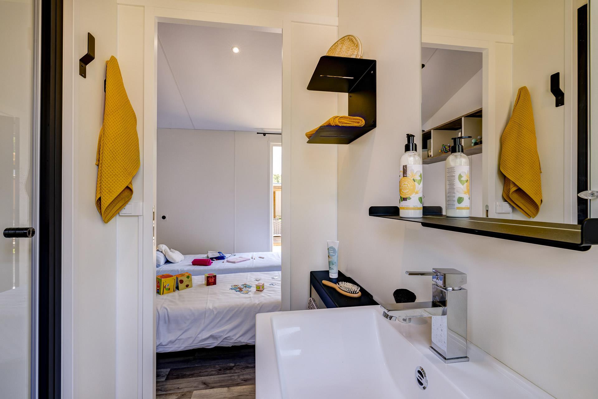 Location - Cottage Cocoon 2 Chambres Premium - Camping Sandaya L'Orée du Bois