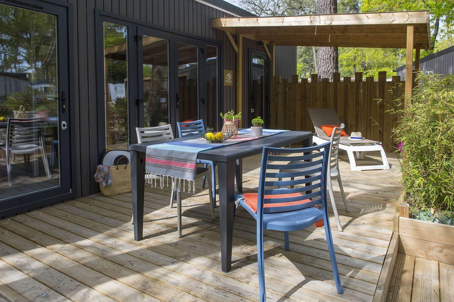 Location - Cottage 2 Chambres Premium - Camping Sandaya L'Orée du Bois