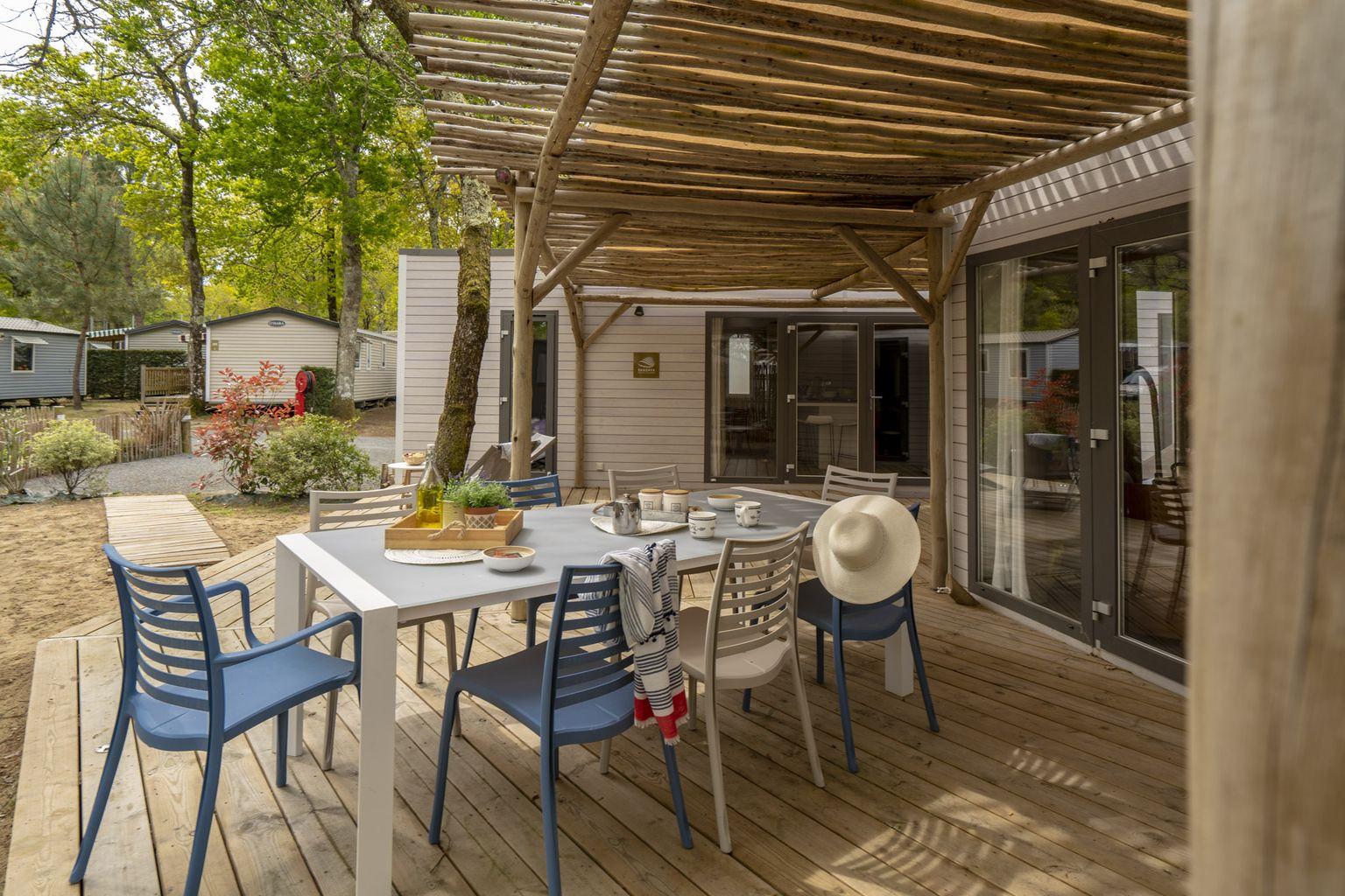 Location - Cottage Key West Double 3 Chambres Premium - Camping Sandaya L'Orée du Bois