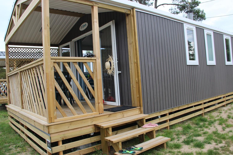 Location - Mobil-Home Loggia Bay Premium 24.70 M² (2 Chambres) - Camping Domaine de Pont Mahé