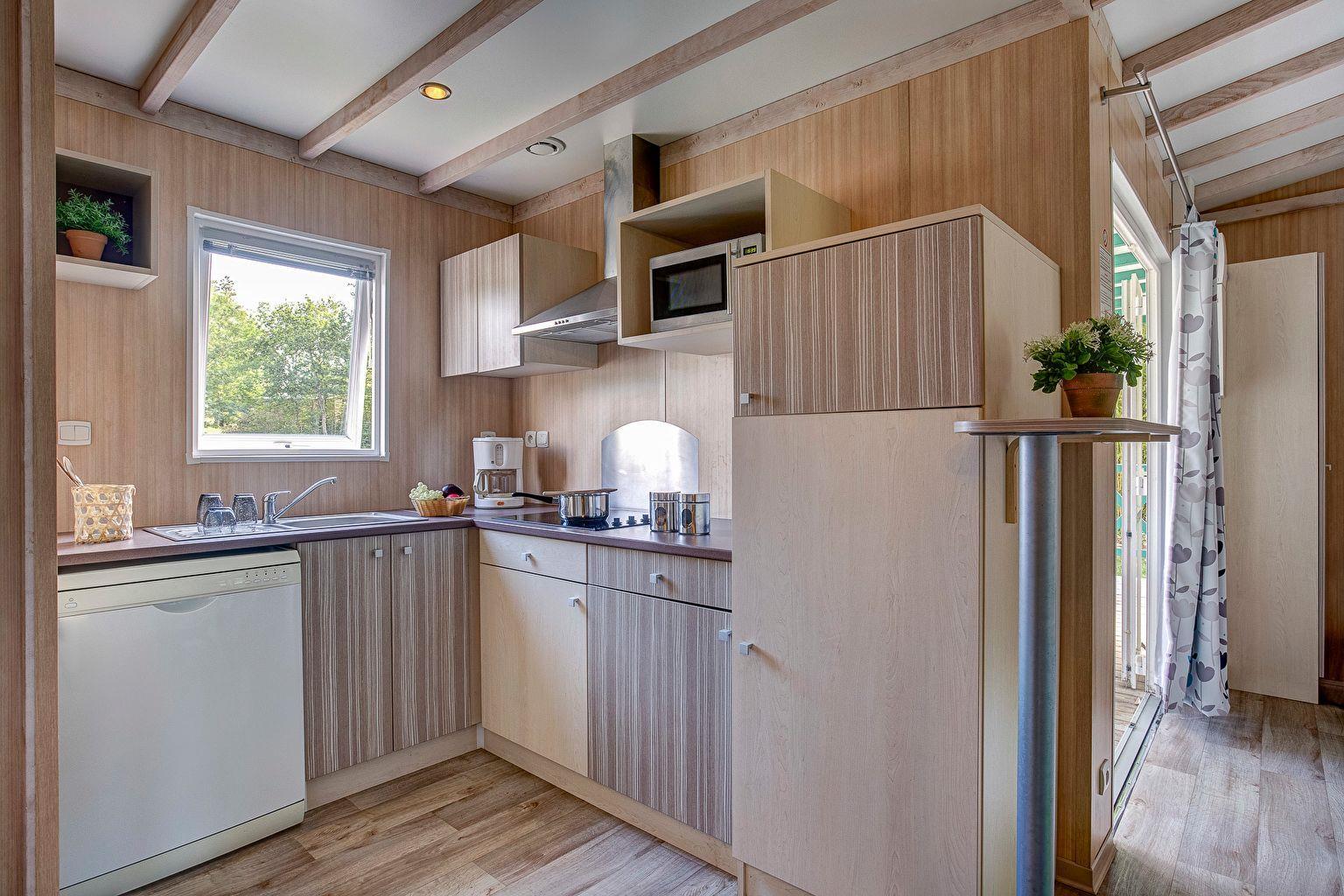 Location - Chalet 3 Chambres - 2 Salles De Bains - Climatisation *** - Camping Sandaya Les Alicourts Resort