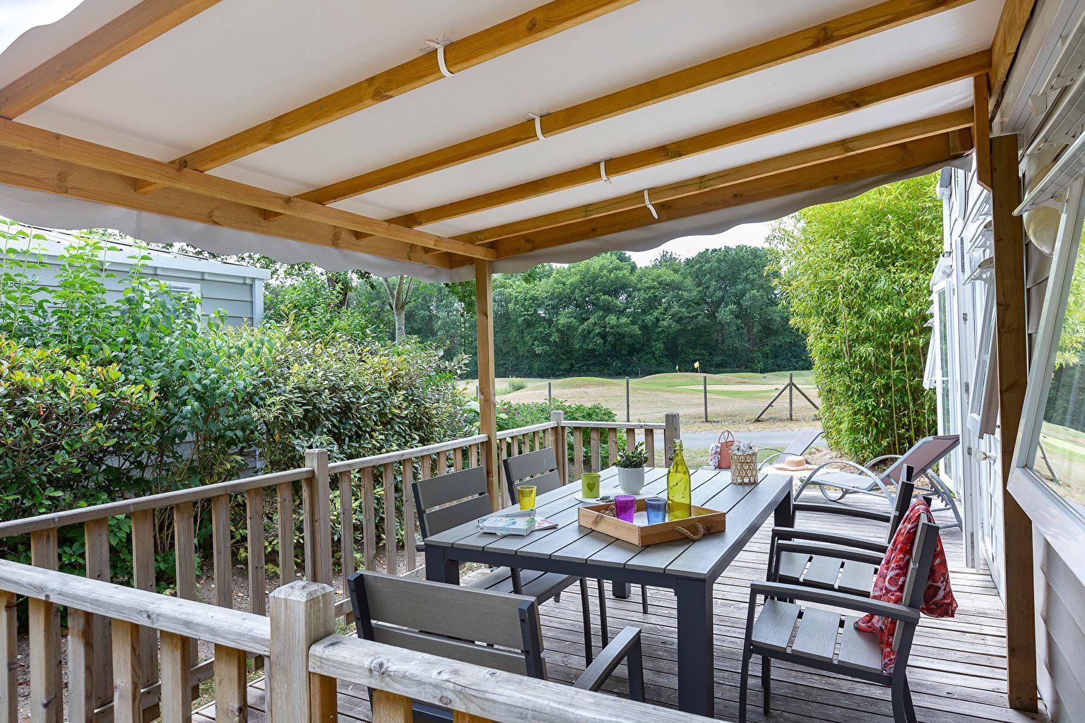 Location - Cottage 3 Chambres - 2 Salles De Bain - Climatisation **** - Camping Sandaya Les Alicourts Resort