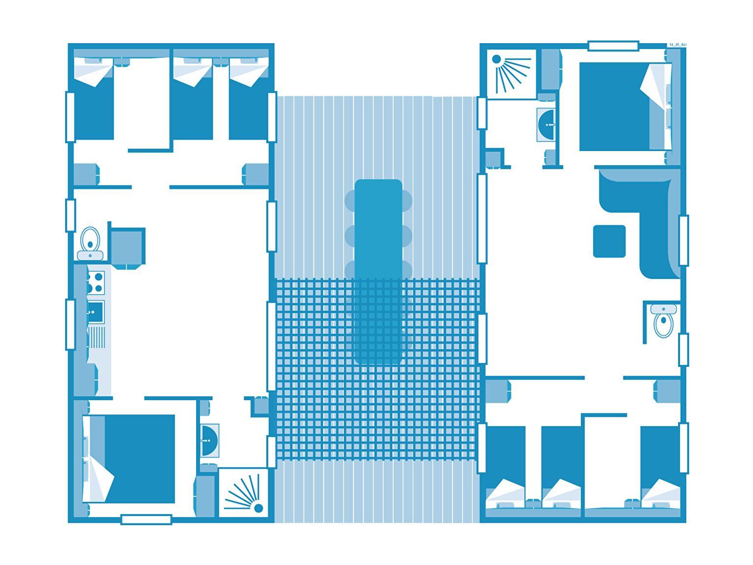 Location - Cottage Friends 6 Chambres - 2 Salles De Bain - Climatisation **** - Camping Sandaya Les Alicourts Resort