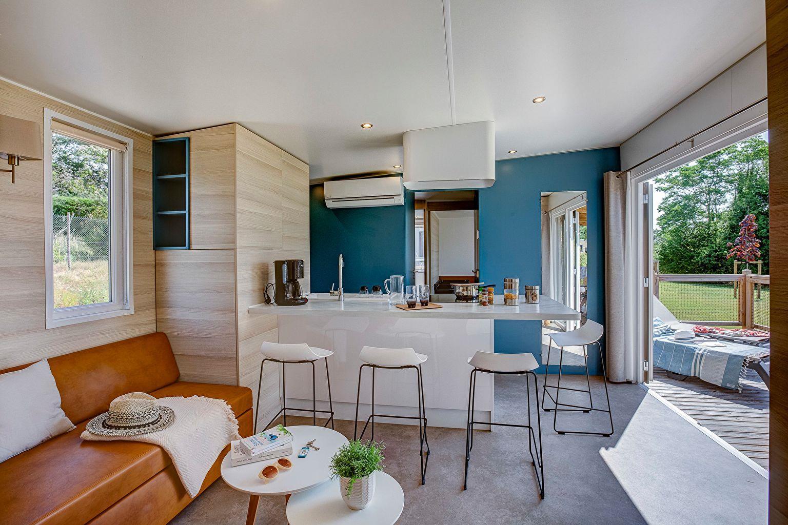 Location - Cottage Key West Family 3 Chambres - 2 Salles De Bain - Climatisation Premium - Camping Sandaya Les Alicourts Resort