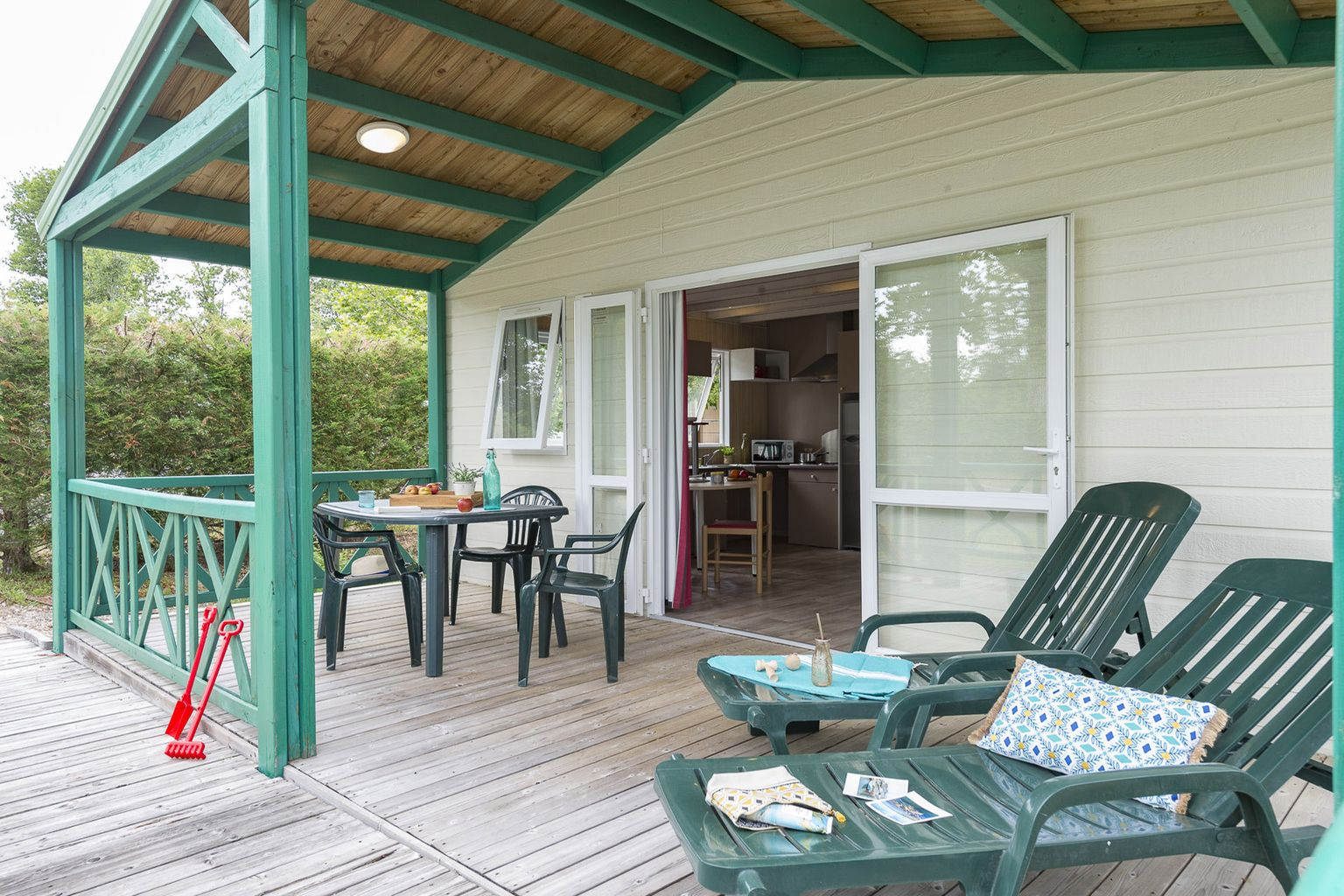 Location - Chalet 2 Chambres Pmr **** - Camping Sandaya Les Alicourts