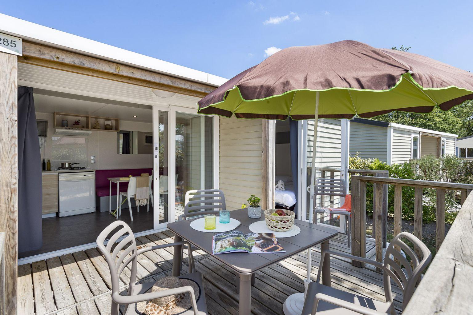 Location - Cottage 2 Chambres - 2 Salles De Bain - Climatisation **** - Camping Sandaya Les Alicourts