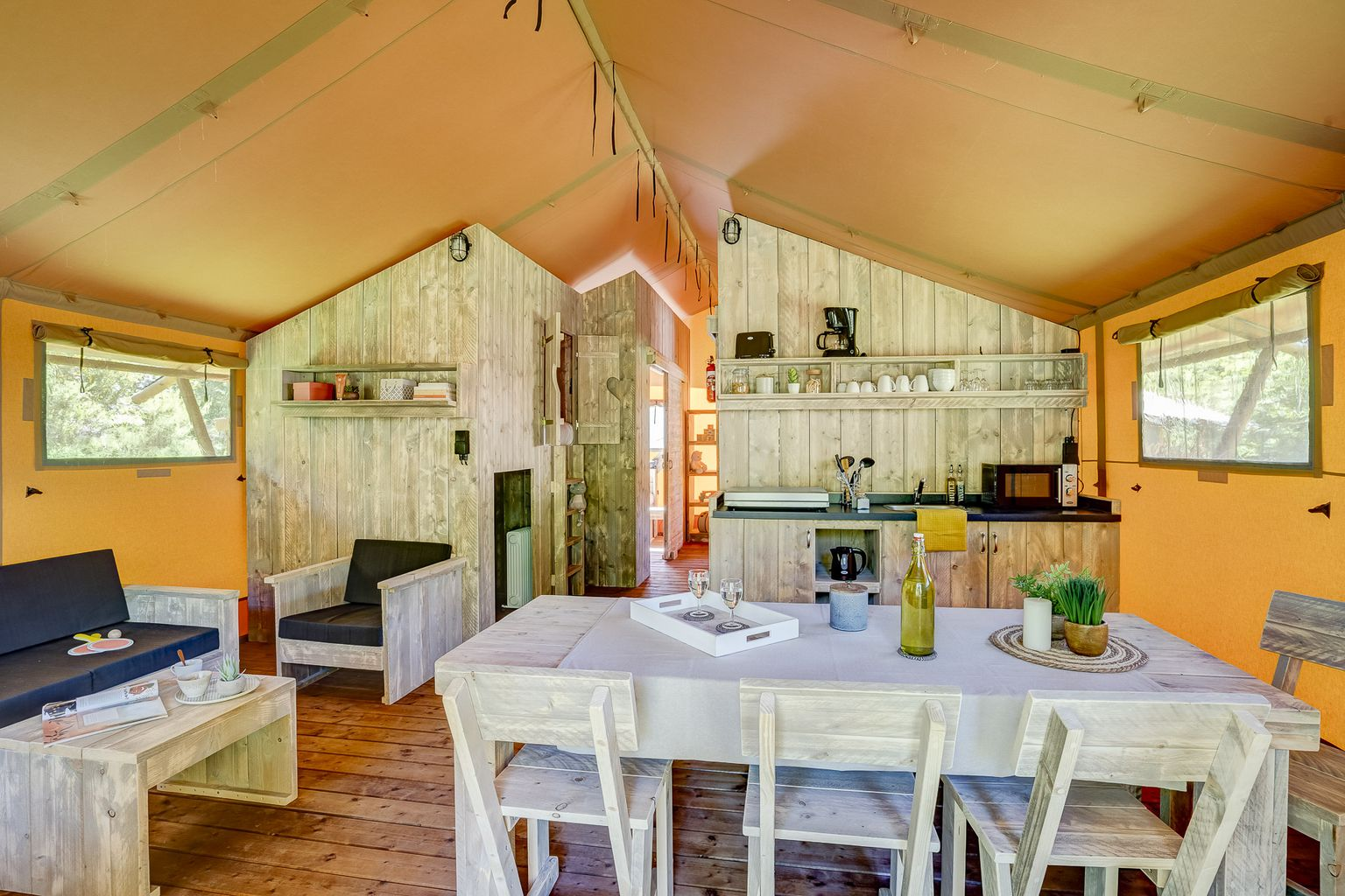 Location - Lodge Forest Camp 3 Chambres **** - Camping Sandaya Les Alicourts