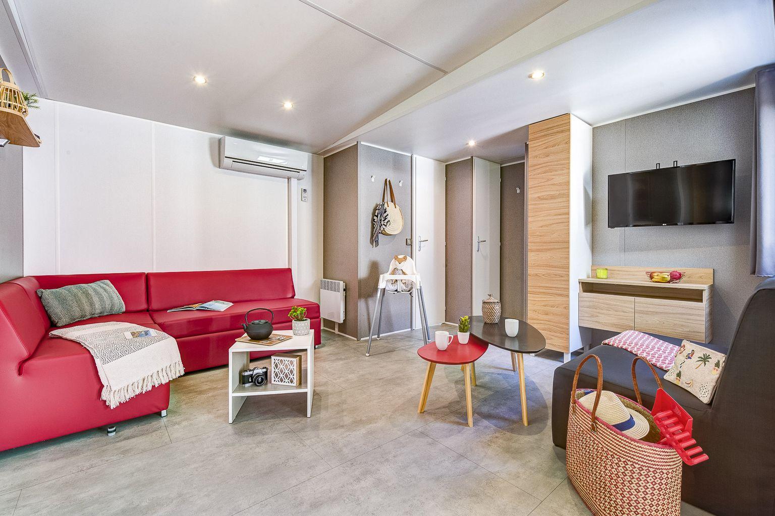 Location - Cottage Friends 6 Chambres - 2 Salles De Bain - Climatisation **** - Camping Sandaya Les Alicourts
