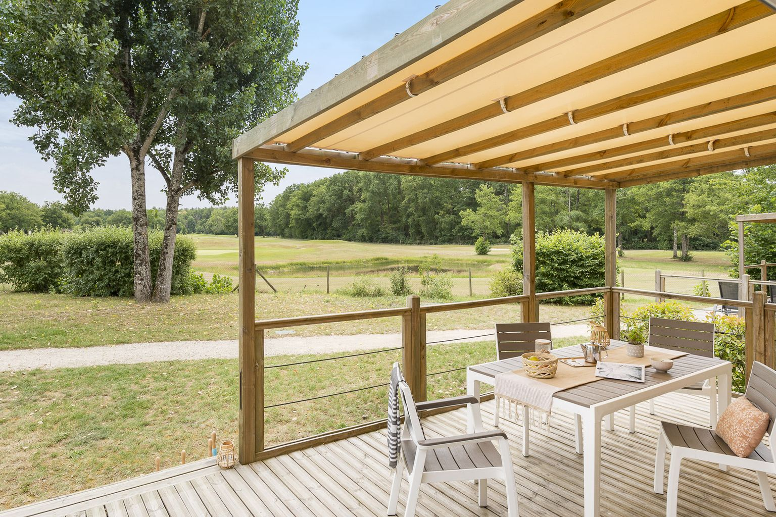Location - Cottage Key West Family 3 Chambres - 2 Salles De Bain - Climatisation Premium - Camping Sandaya Les Alicourts