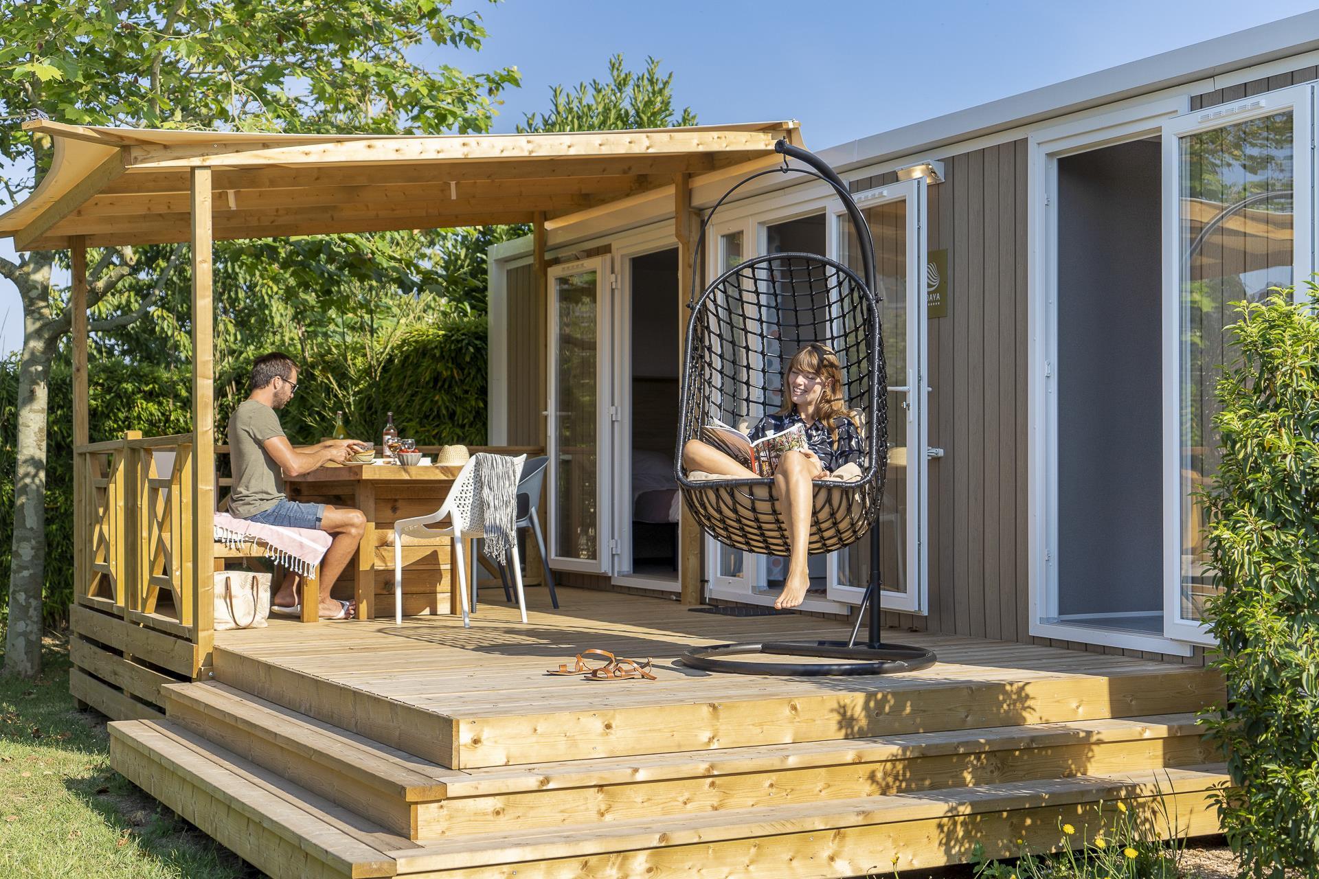 Camping Sandaya la Côte de Nacre, Saint-Aubin-sur-Mer, Calvados