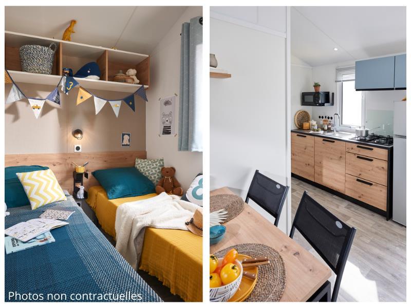 Location - Cottage Aubépine - 23M² - Camping Les Gros Joncs