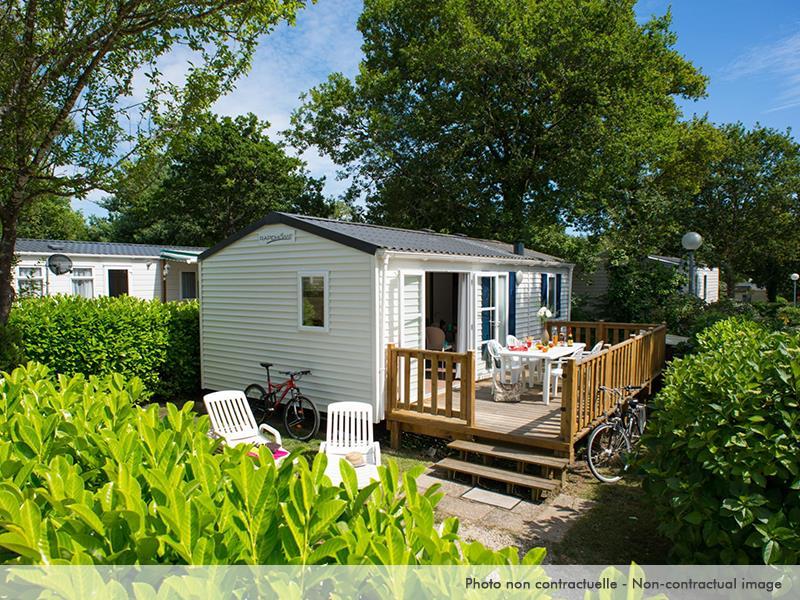 Location - Mobil Home Elégance 2 Chambres Terrasse Et Climatisation - Camping Caravaning Domaine de Dugny