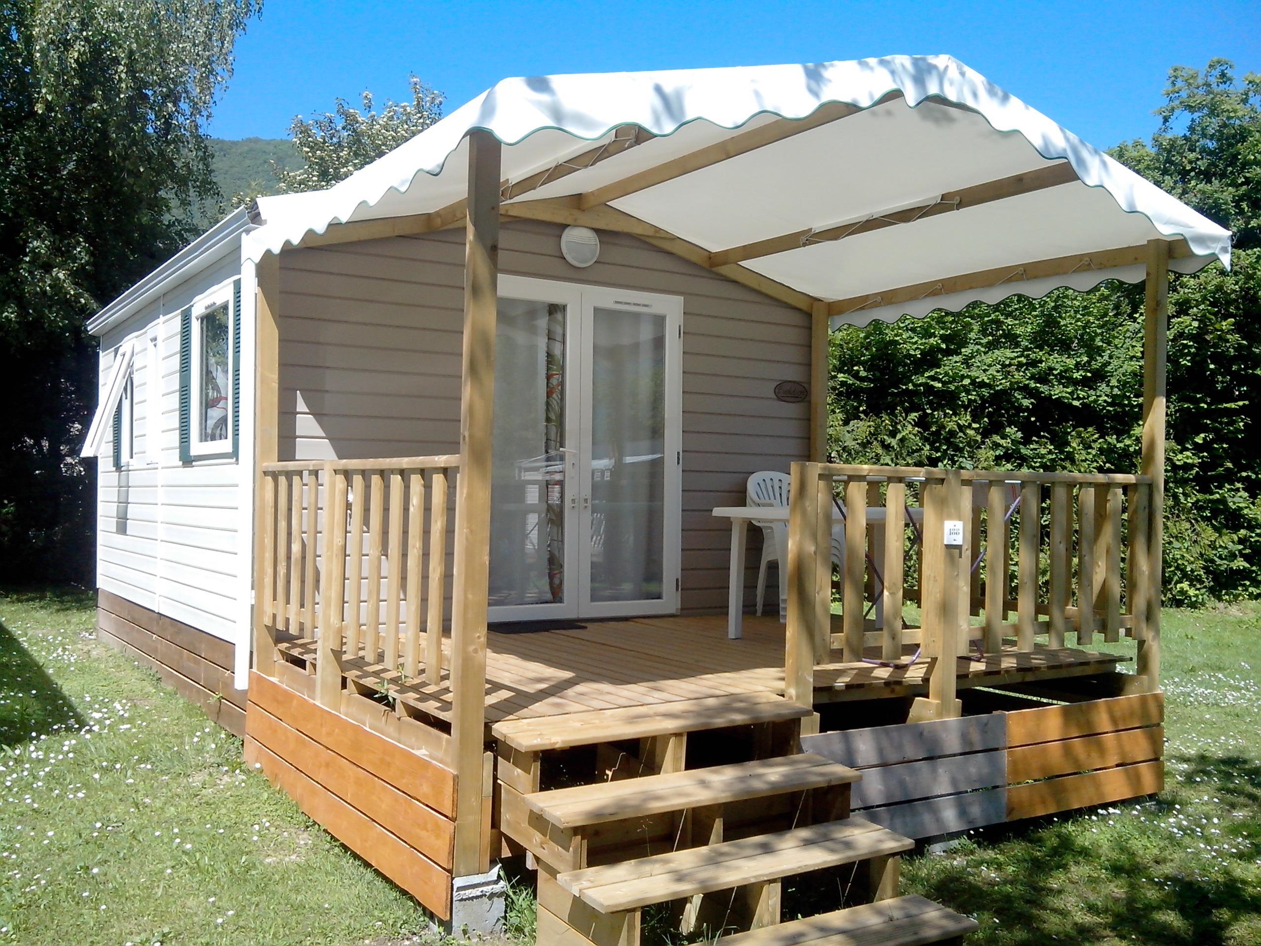 Location - Cottage Premium 20M² (1 Chambre) - Tv - Camping Sites et Paysages Domaine de L'Étang