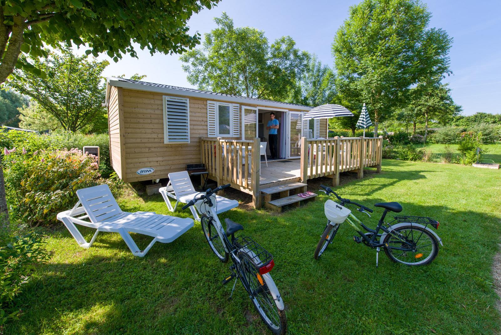 Location - Cottage Premium 33M² (3 Chambres) - Tv - Lave Vaisselle - Camping Sites et Paysages Domaine de L'Étang