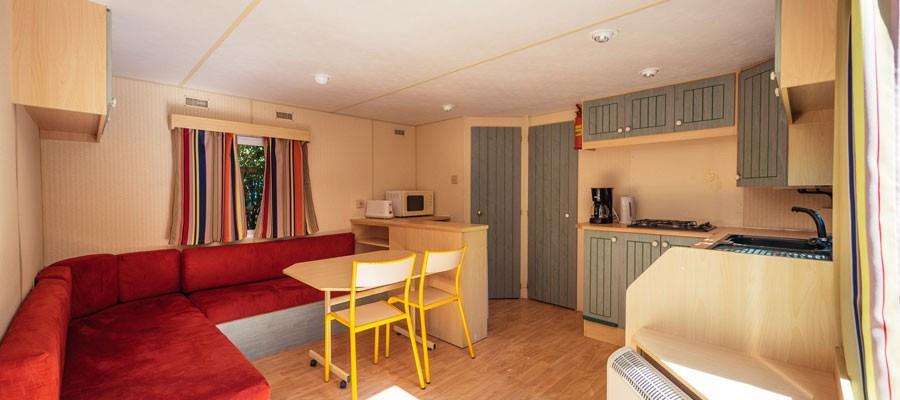 Location - Cottage Basic 27M² (2 Chambres) - Camping Sites et Paysages Domaine de L'Étang