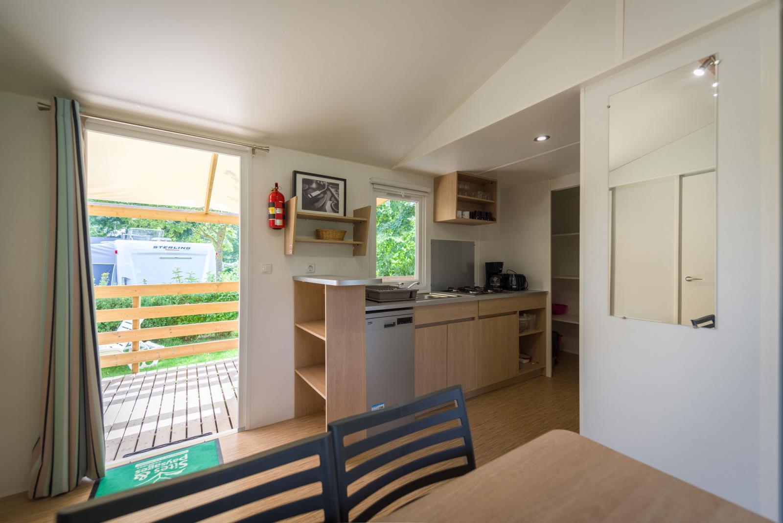 Location - Cottage Premium 27M² (2 Chambres) - Tv - Lave-Vaisselle - Camping Sites et Paysages Domaine de L'Étang