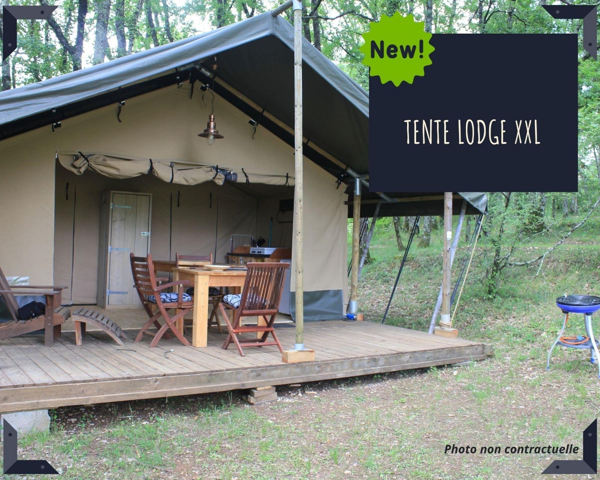 Location - Tente Lodge Confort 30M2 (2 Chambres) - Sans Sanitaires Privatifs - Camping Sites et Paysages Domaine de L'Étang