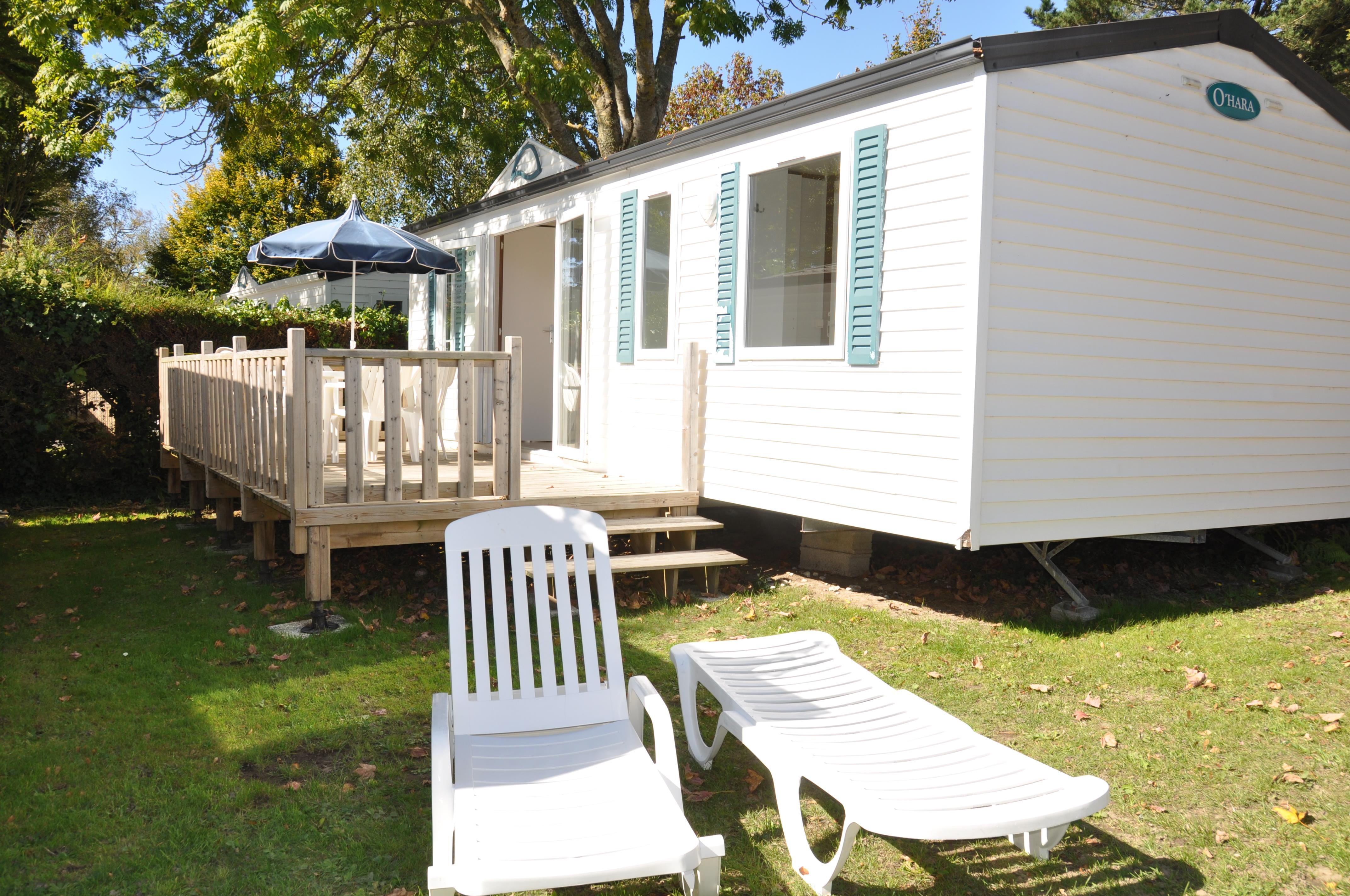 Location - Mobilhome Xl Glenan 3 Chambres 33,20M² - Camping International Le Raguenès Plage