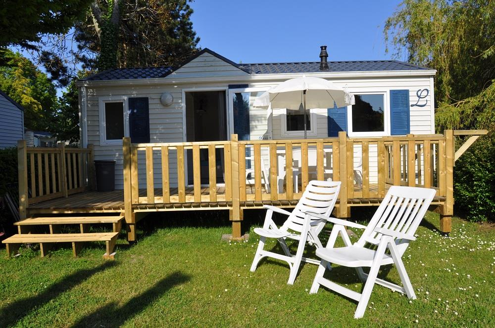 Location - Mobilhome Oceane 2 Chambres 31.2M² - Camping International Le Raguenès Plage