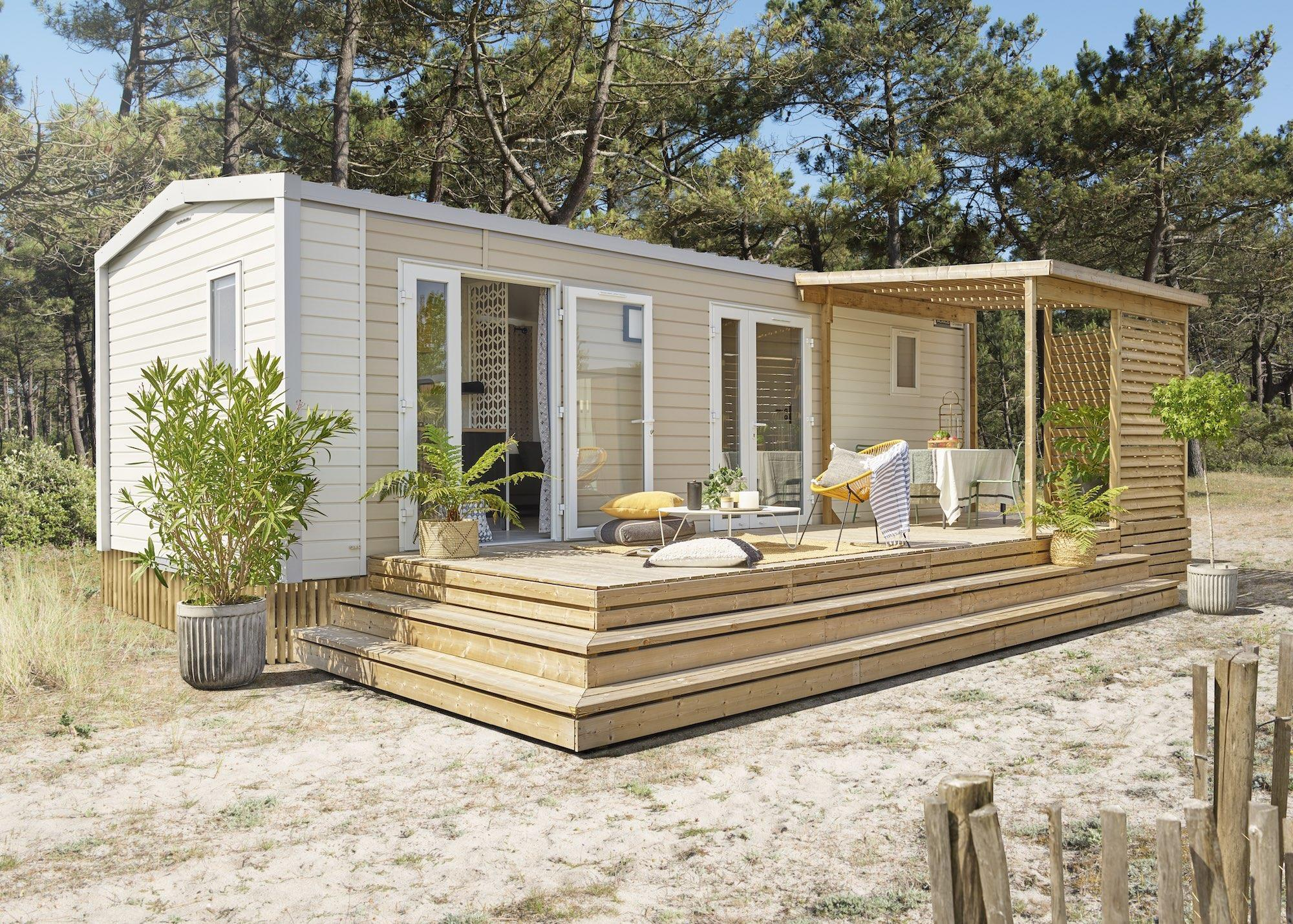Location - Mobilhome Grand Large 2 Chambres 4 Personnes - Camping International Le Raguenès Plage