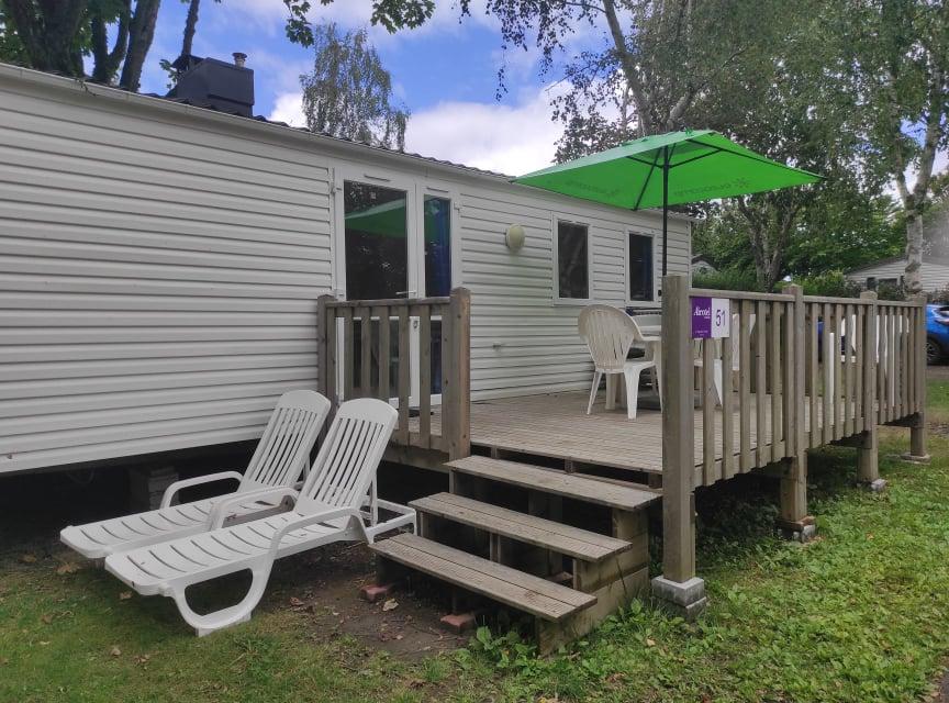 Location - Mobilhome Trevignon 2 Chambres/ 5 Personnes - Camping International Le Raguenès Plage