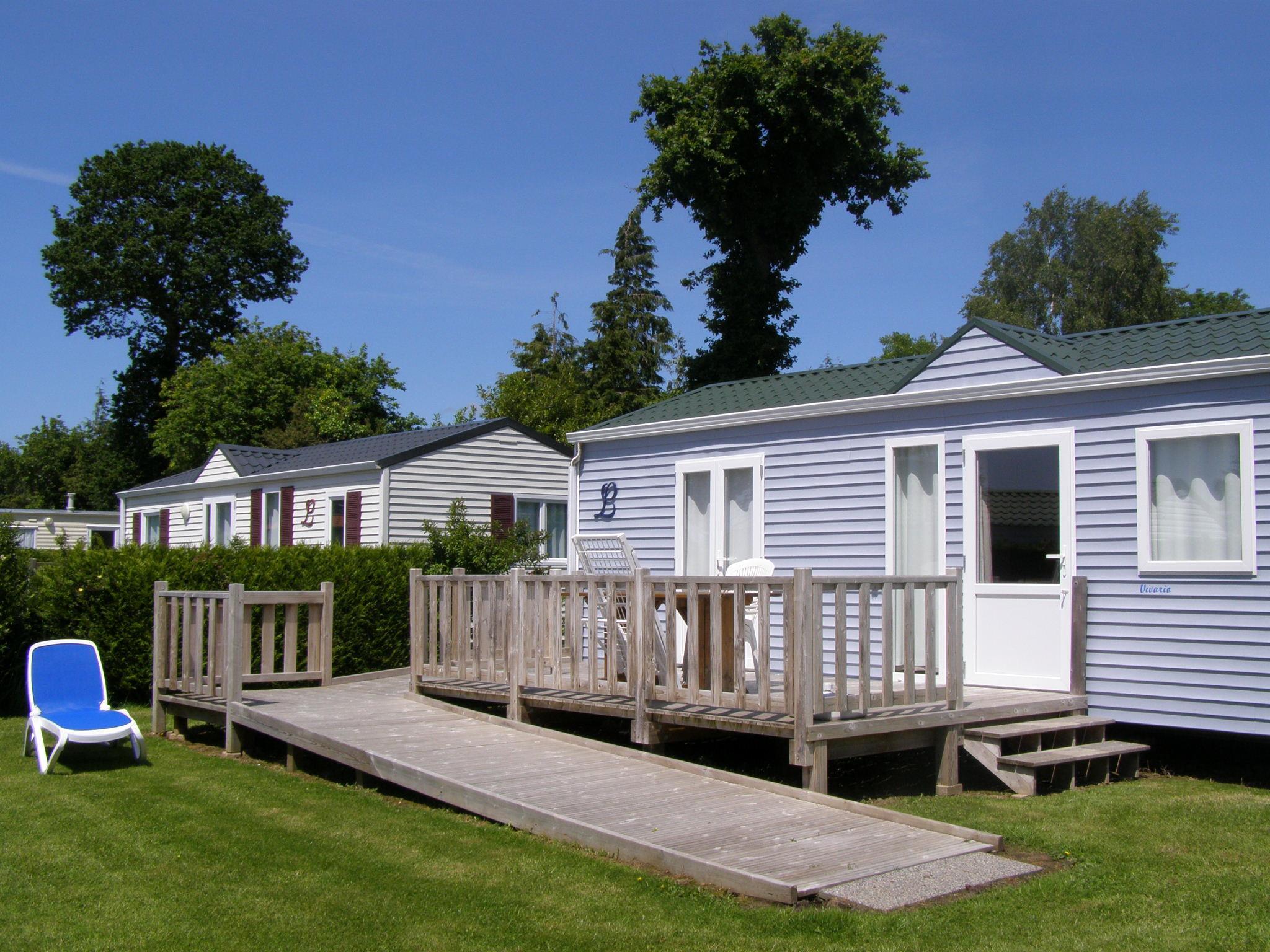 Location - Hébergement Pour Tous Avec Tv - 2 Chambres - - Camping L'Étang des Haizes